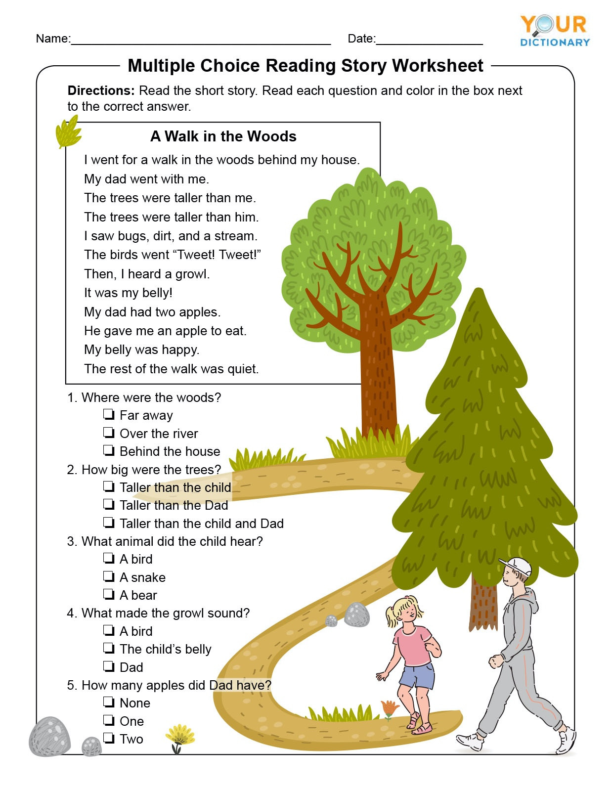 1st Grade Comprehension Worksheets Free 1st Grade Reading Prehension Tests & Worksheets