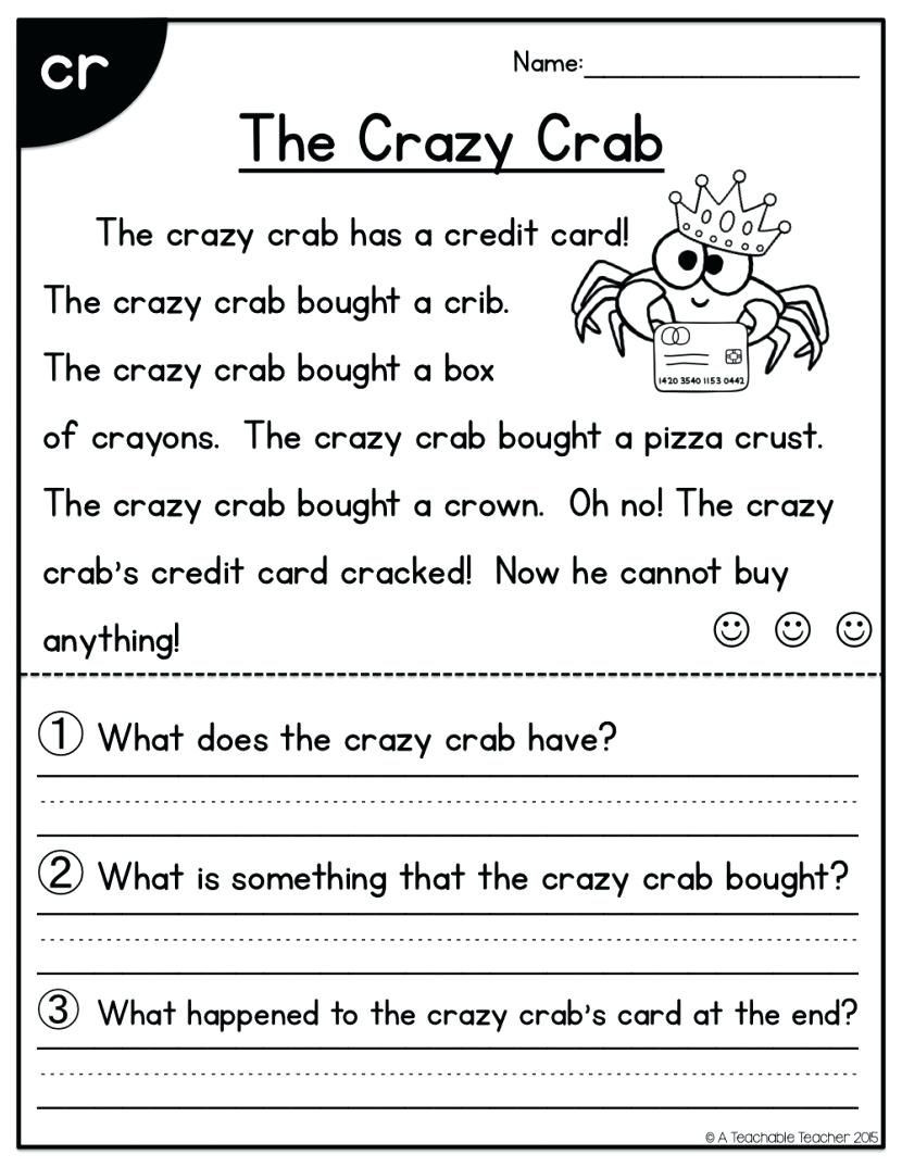 1st Grade Comprehension Worksheets Free Image Result for 1st Grade Reading Prehension Worksheets