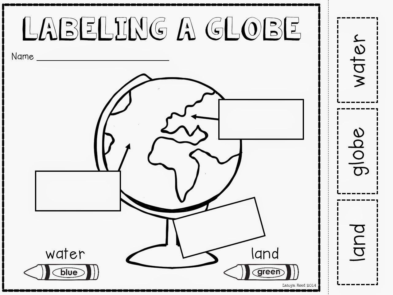1st Grade History Worksheets Maps and Globes Freebie