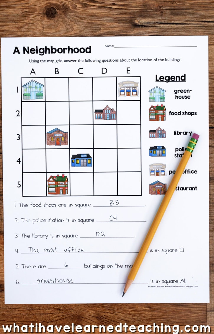 1st Grade Map Skills Worksheets Map Skills & Location social Stu S Unit