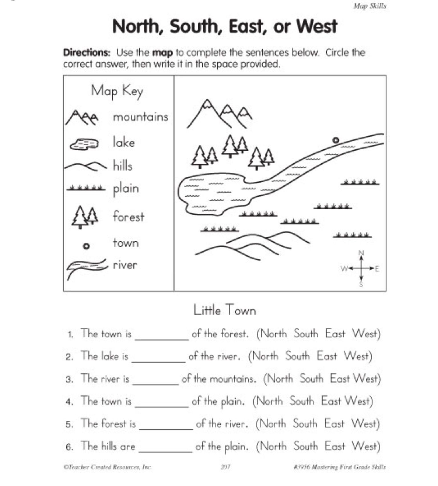 1st Grade Map Skills Worksheets Pin On Parenting Teaching