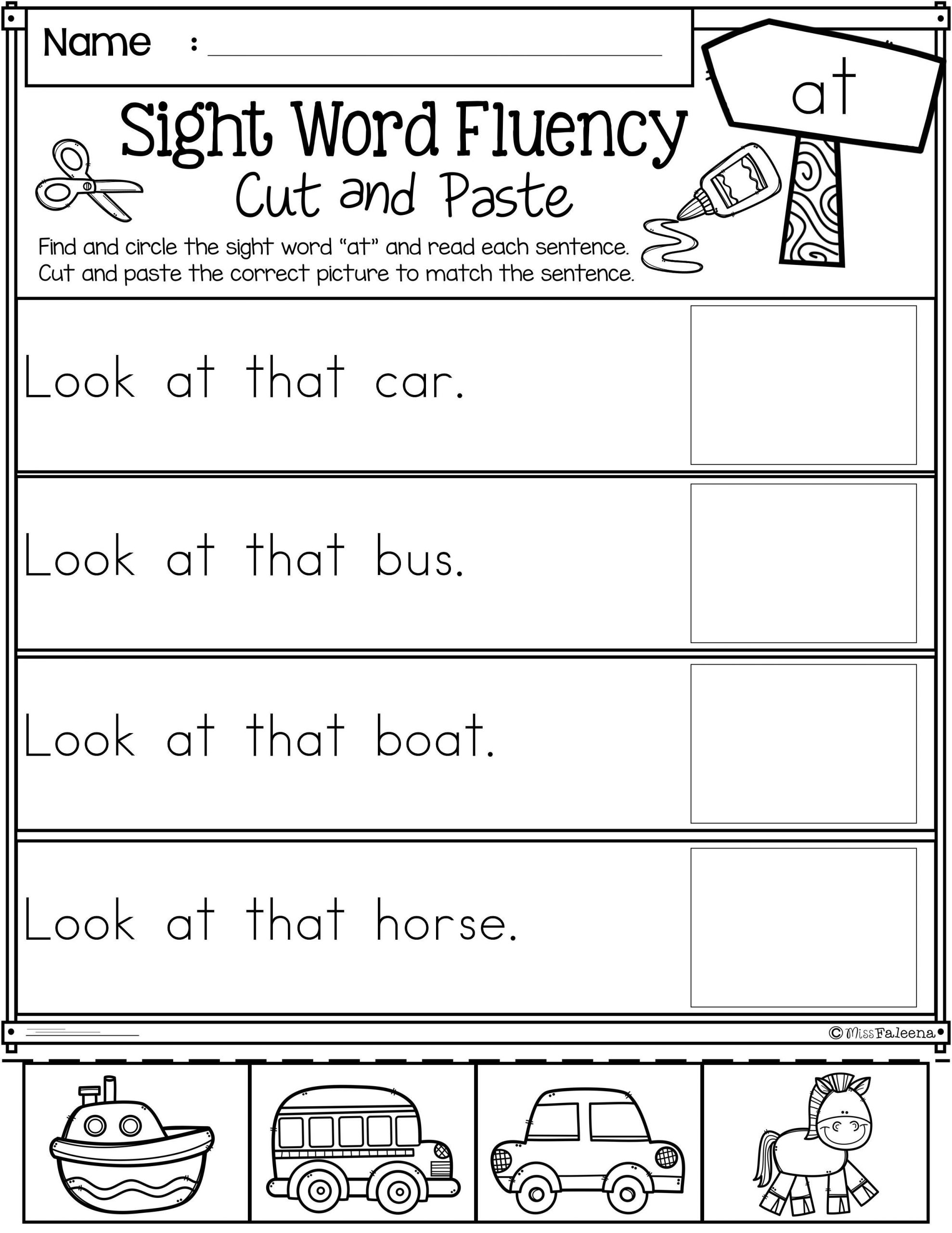 1st Grade Reading Fluency Worksheets First Grade Kindergarten Reading Worksheets Sight Words
