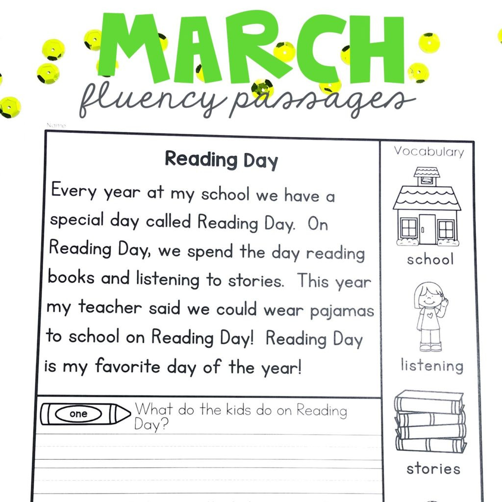 1st Grade Reading Fluency Worksheets Worksheet Worksheet Free 1st Grade Reading Passage First