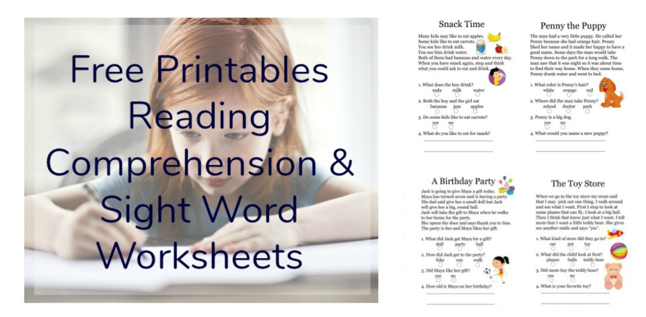 1st Grade Reading Worksheets Printable Free Printables Reading Prehension Sheets with 1st Grade