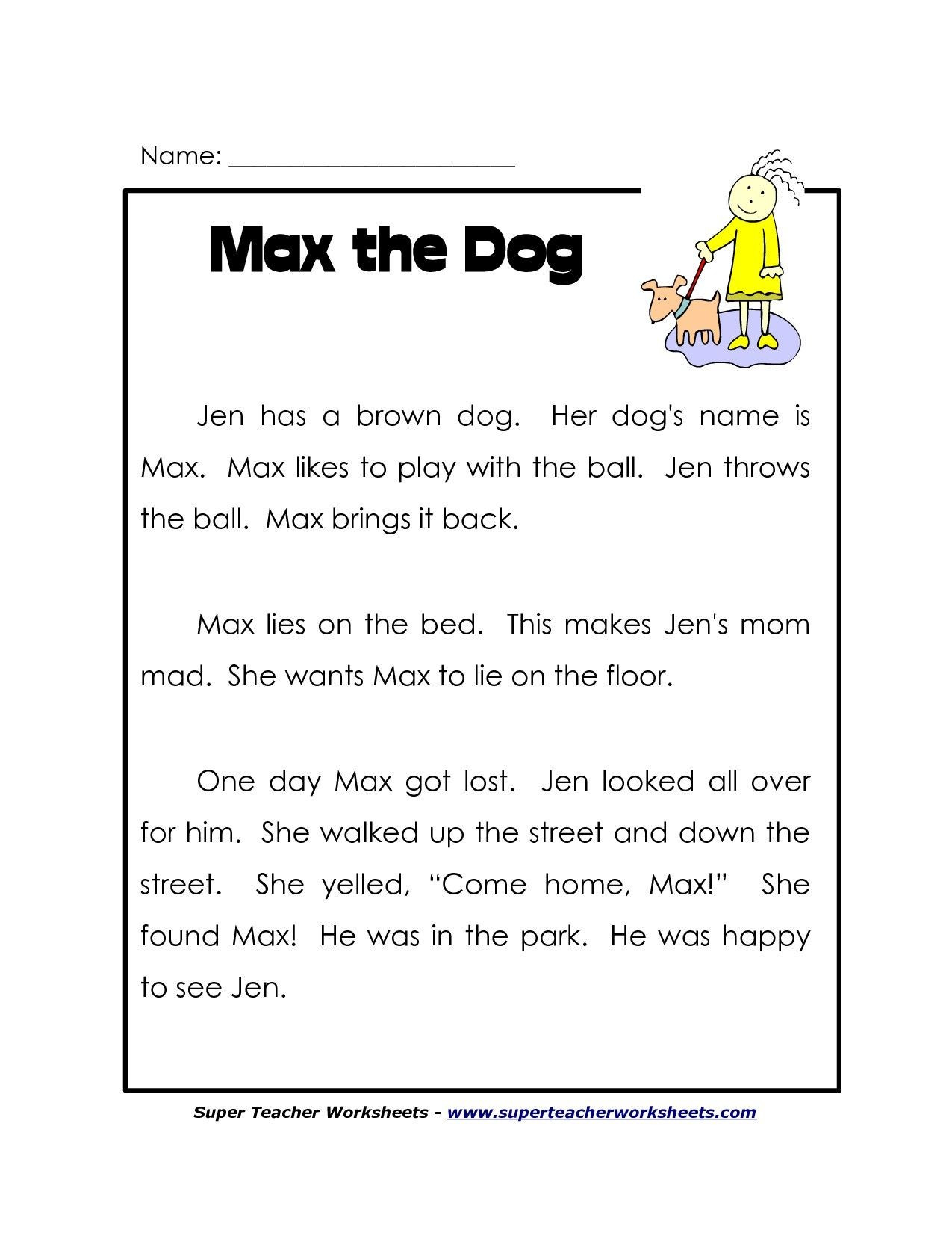 1st Grade Reading Worksheets Printable Math Worksheet Free Printable Reading Worksheets Reading