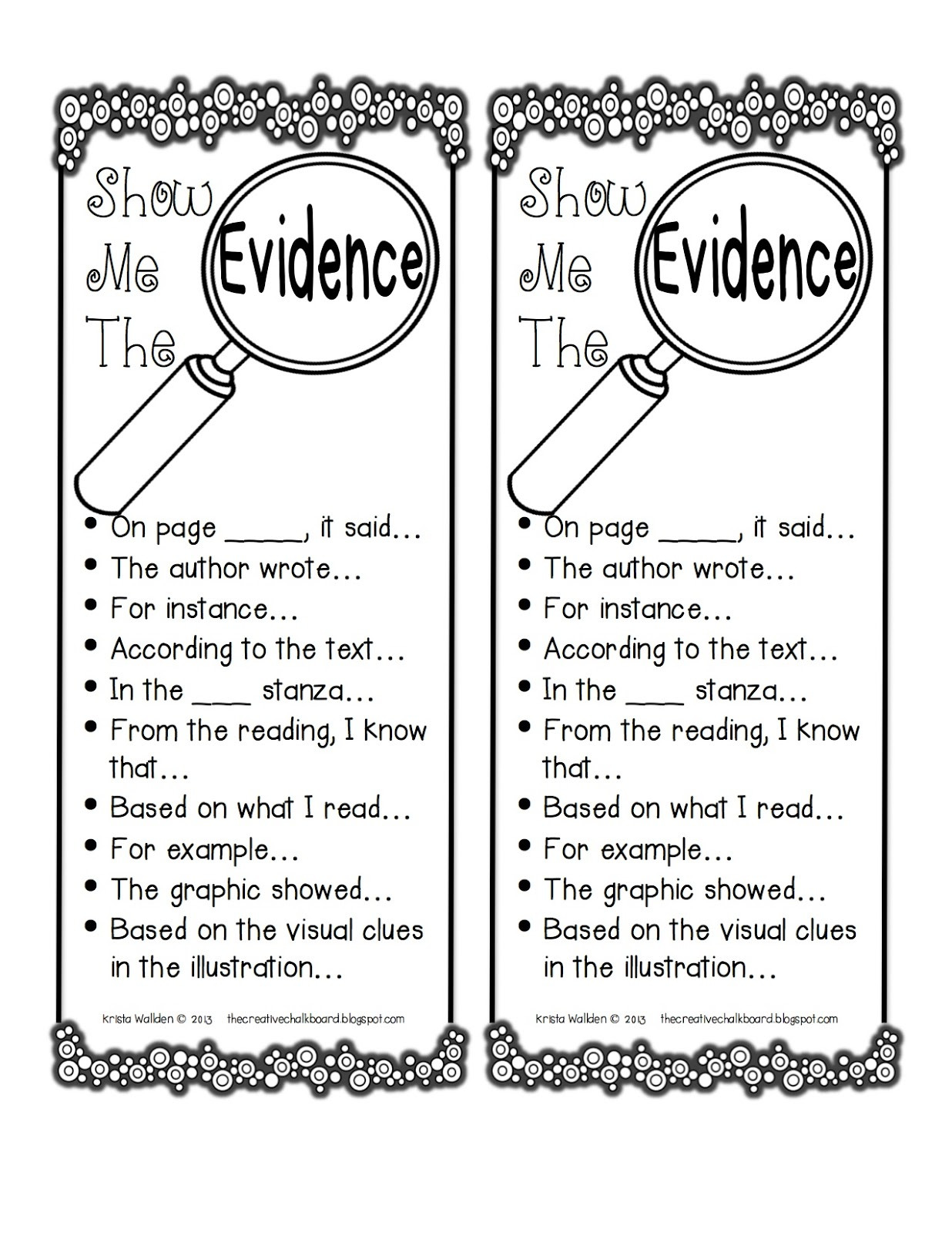 1st Grade Sentence Starters Copy Citing Text Evidence Lessons Tes Teach