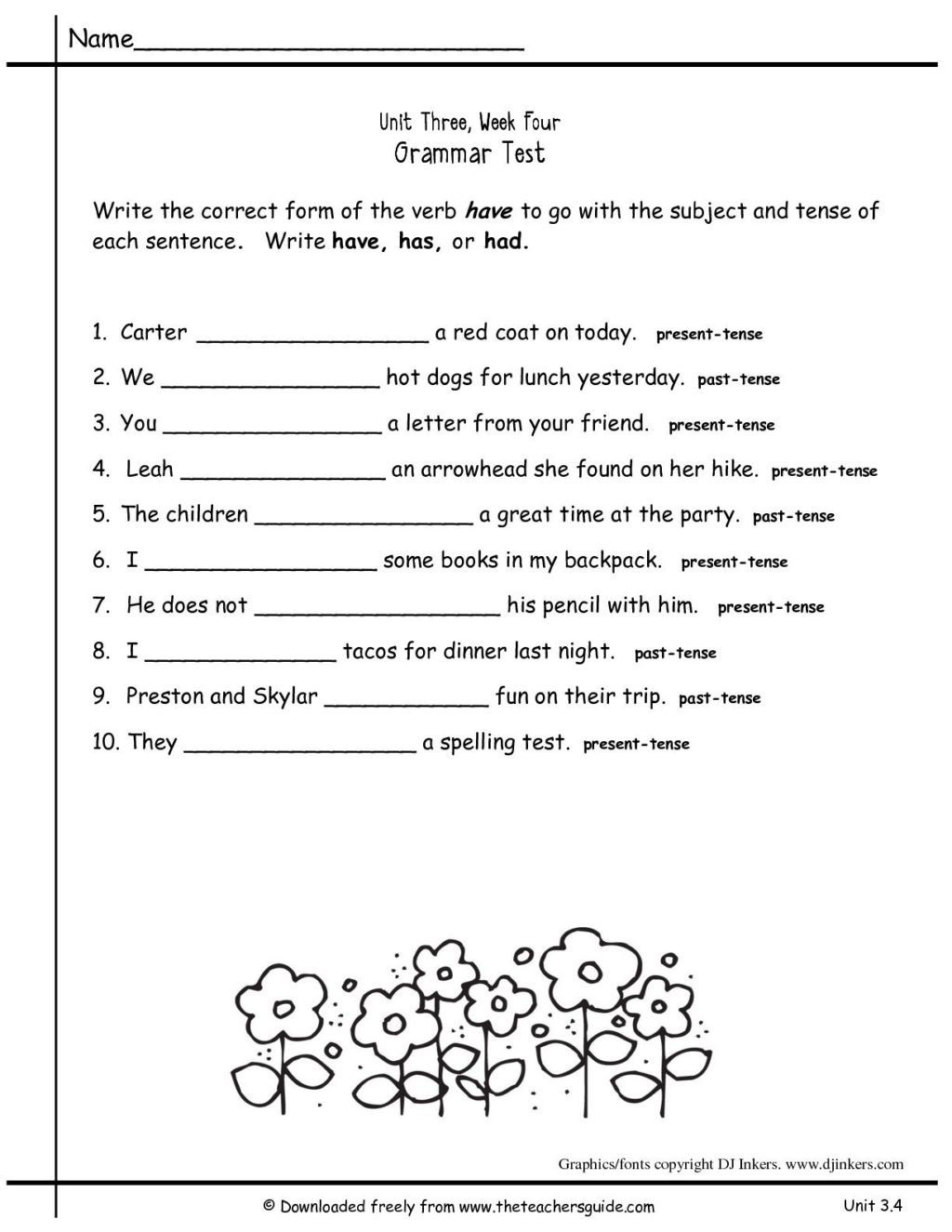2nd Grade Grammar Worksheets Free Worksheet 2nd Grade Grammar Practice 1st Secondsheets