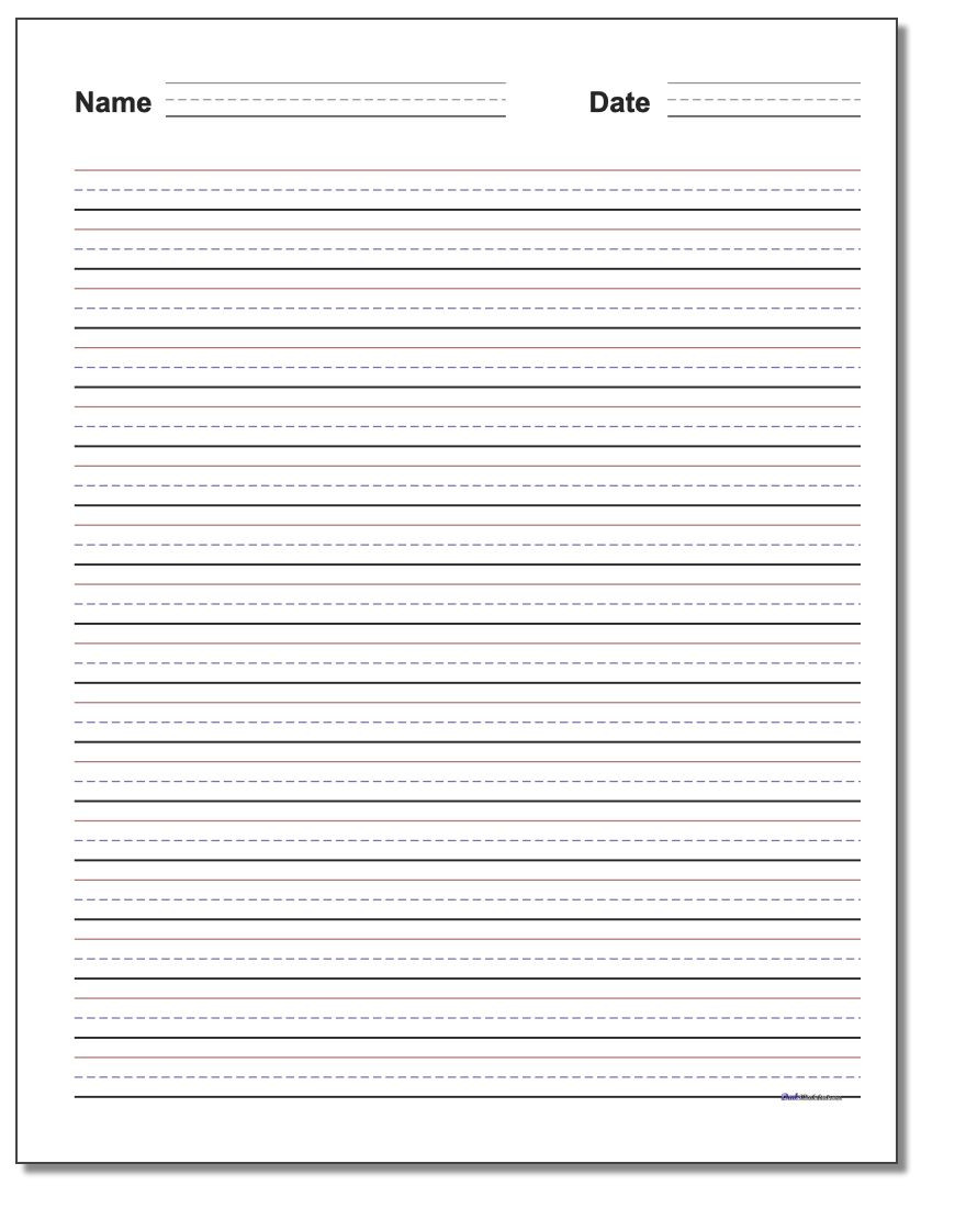 2nd Grade Handwriting Worksheets Pdf Handwriting Paper