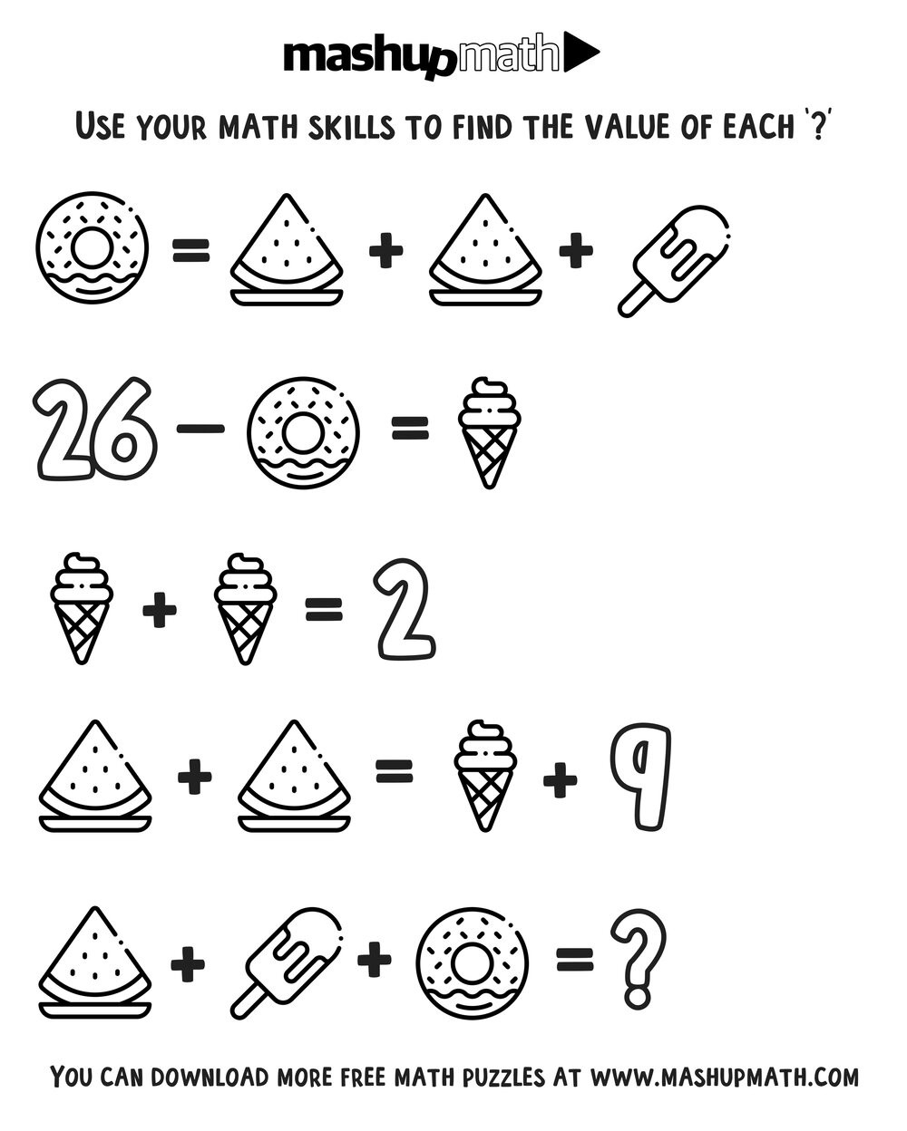 2nd Grade Math Challenge Worksheets Coloring — Blog — Mashup Math