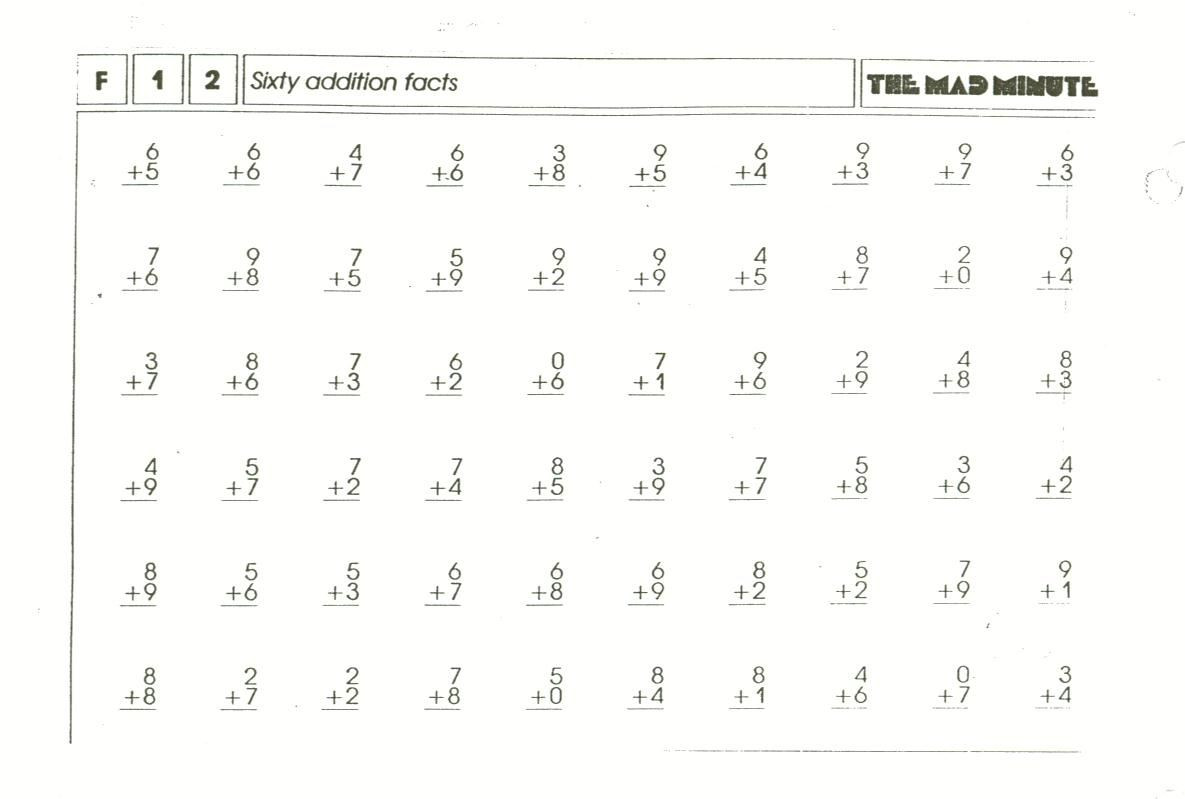 2nd Grade Minute Math Worksheets Elementary Iigh so Long Ago