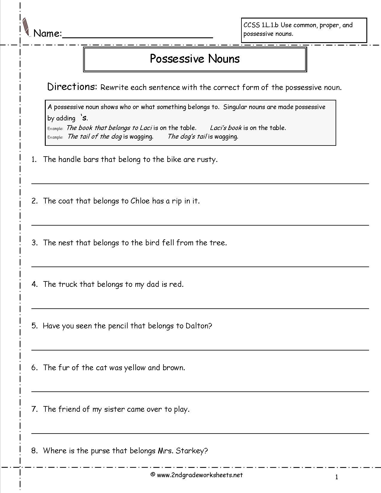 2nd Grade Pronoun Worksheets Pronoun Worksheets Fourth Grade