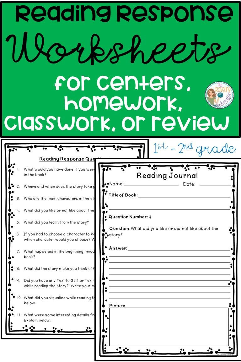 2nd Grade Reading Response Worksheets Check Out these Reading Response Worksheets for Your