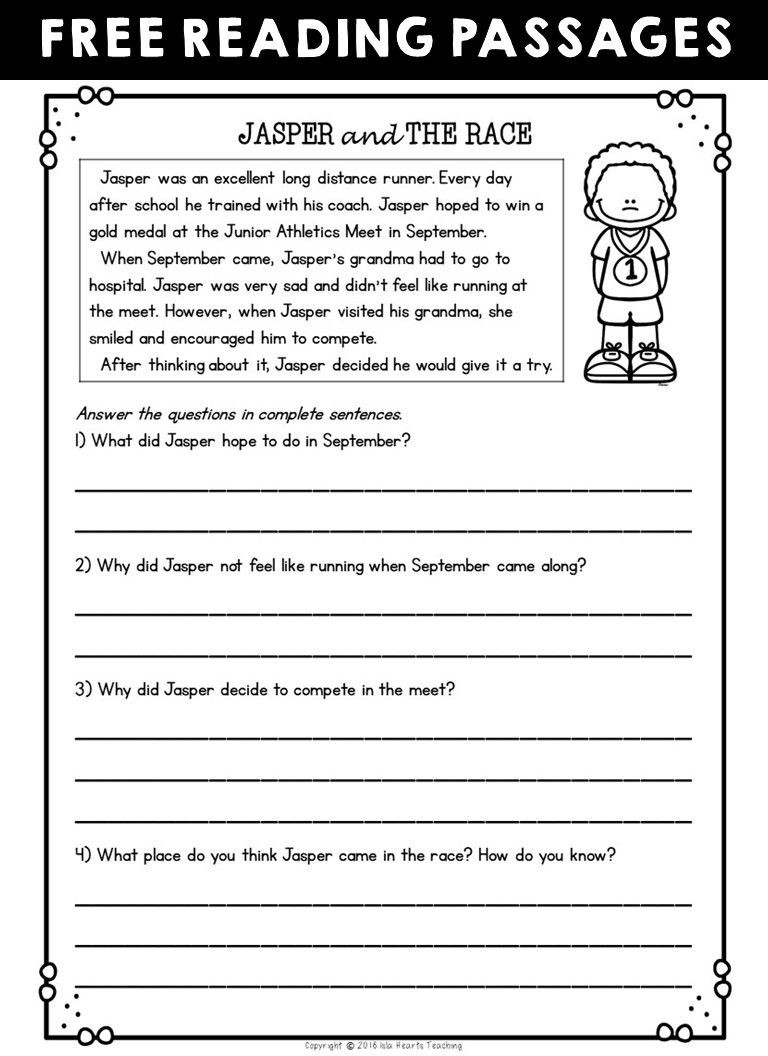 2nd Grade Reading Worksheets Printable Worksheet Free Readingehension Worksheets Second Grade
