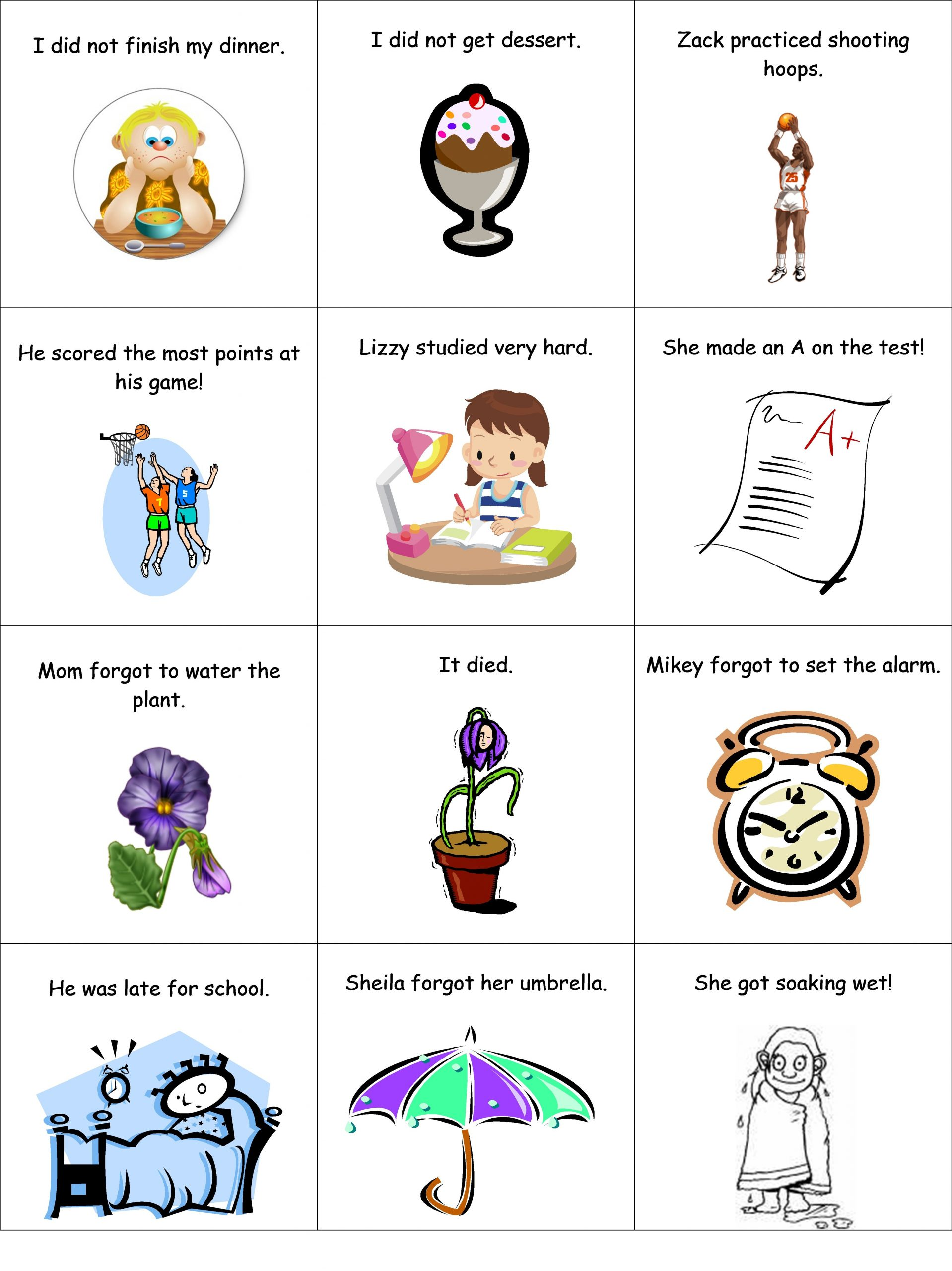 2nd Grade Sequencing Worksheets Part 1 Of 2 Cause and Effect Matching Game