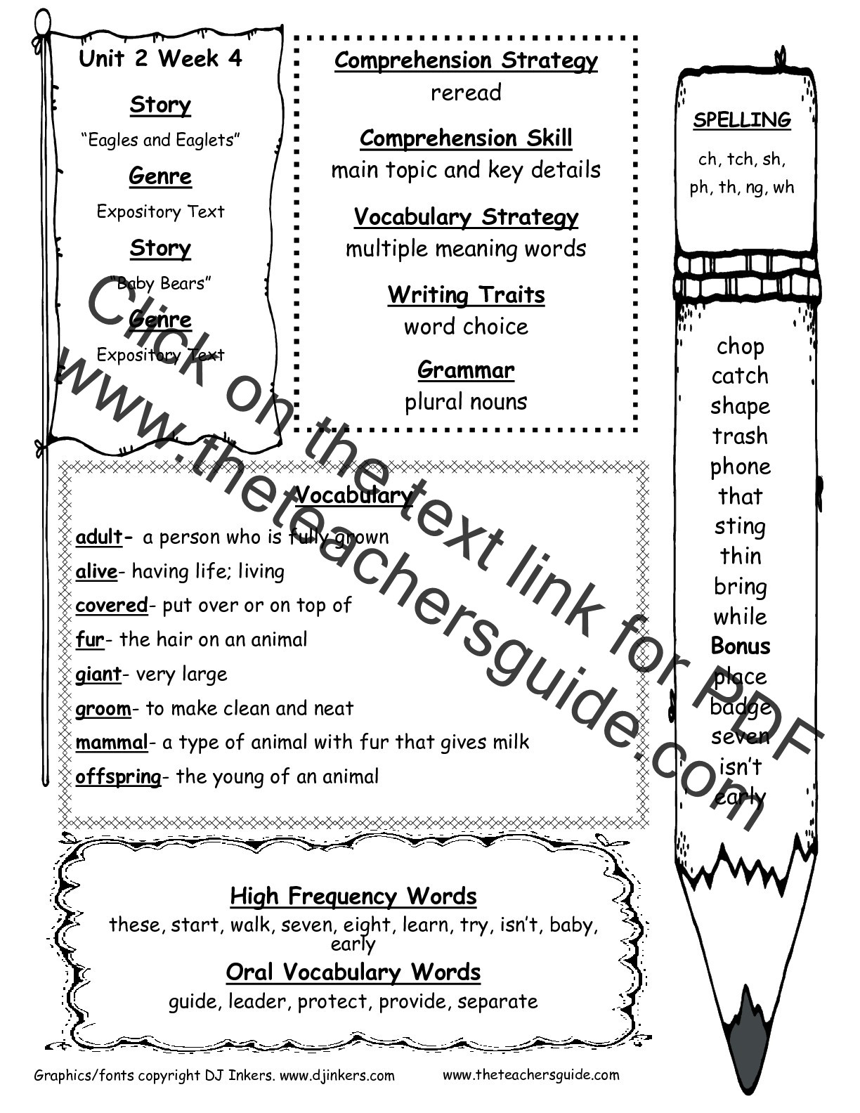 2nd Grade Spelling Words Worksheets Wonders Second Grade Unit Two Week Four Printouts