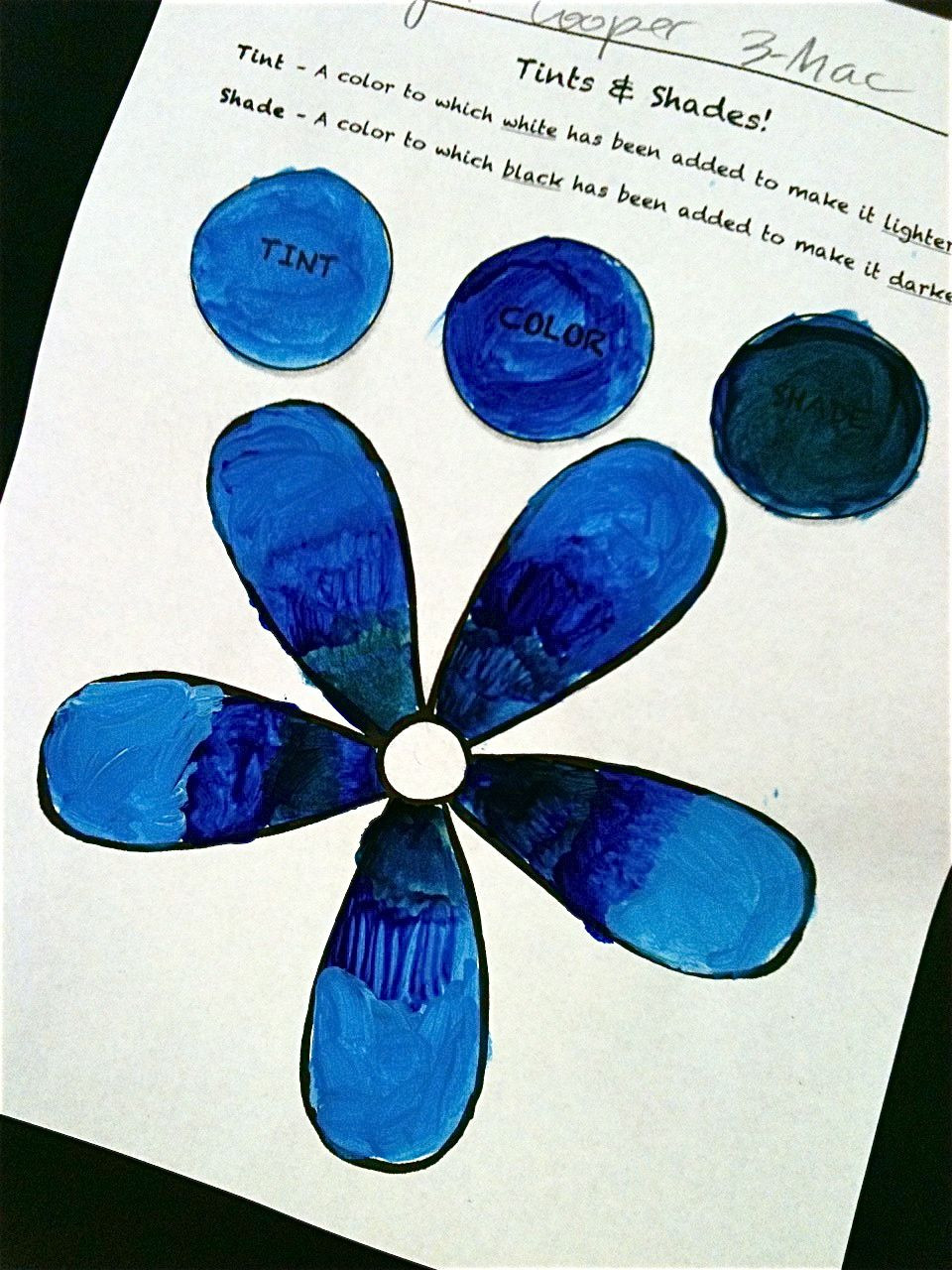3rd Grade Art Worksheets 3rd Grade Tints and Shades