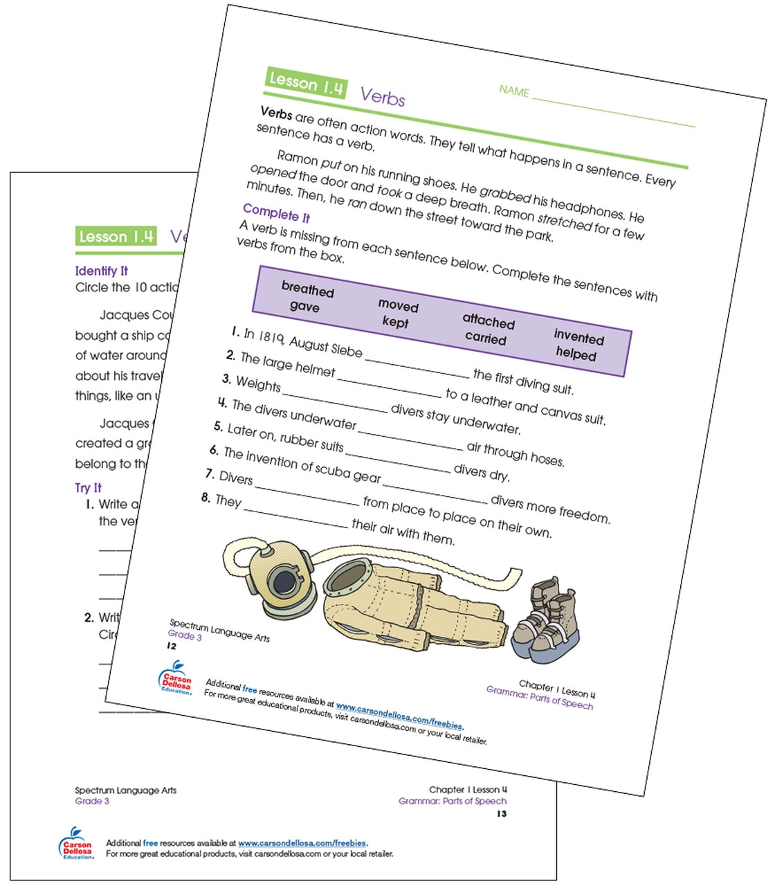 3rd Grade Grammar Worksheets Free Identifying Verbs Grade 3 Free Printable