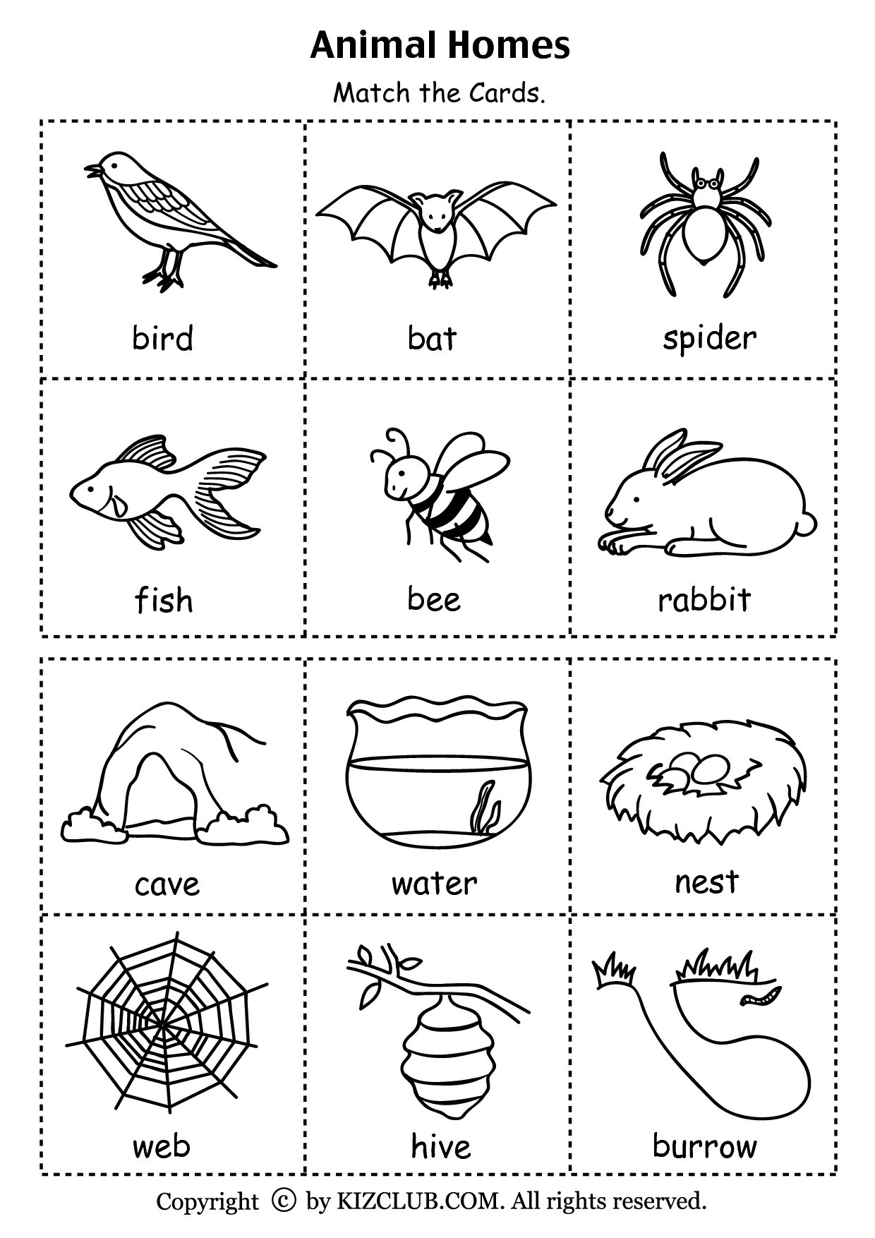 3rd Grade Habitat Worksheets Animal Habitat sort Worksheet