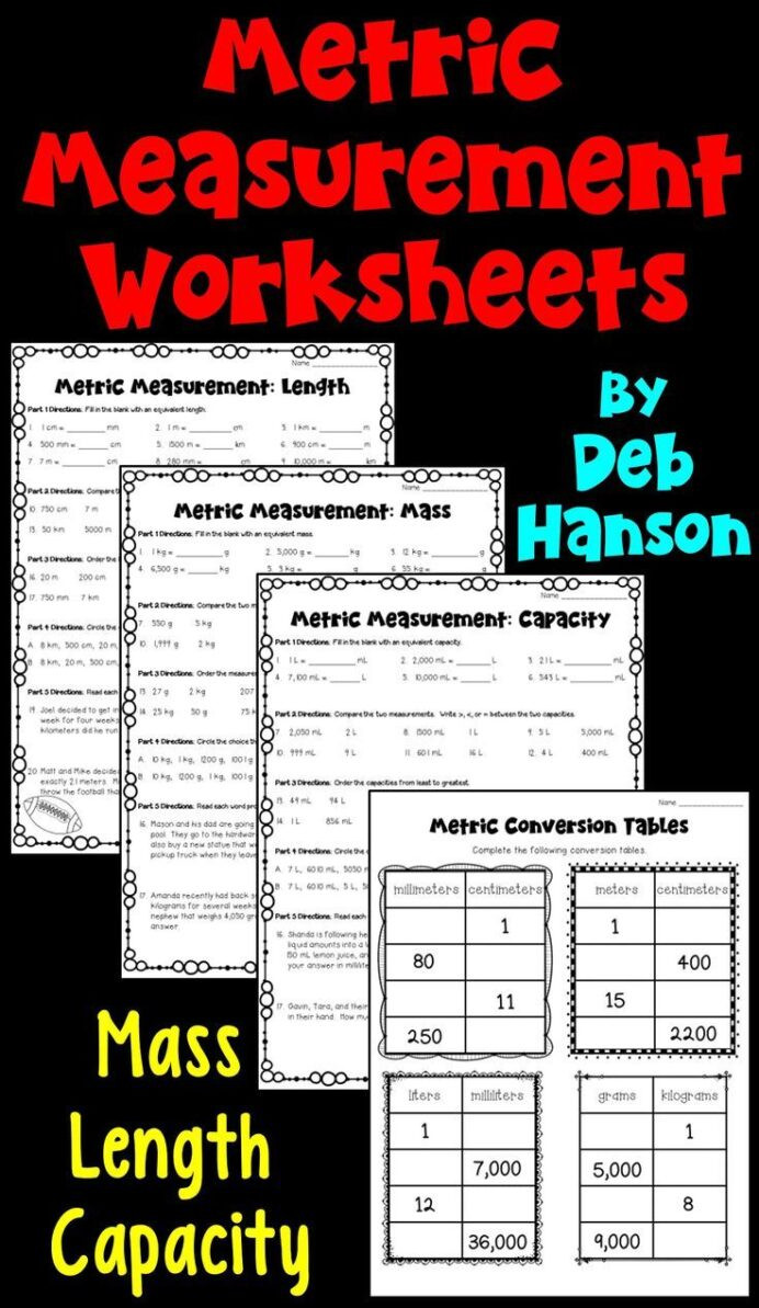 3rd Grade Measurement Worksheet Metric Measurements Worksheets Length Mass Capacity Do My