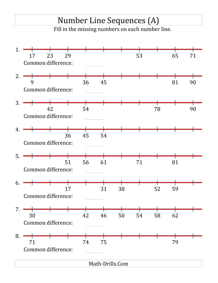 3rd Grade Number Line Worksheets Missing Number Worksheet Juni 2015