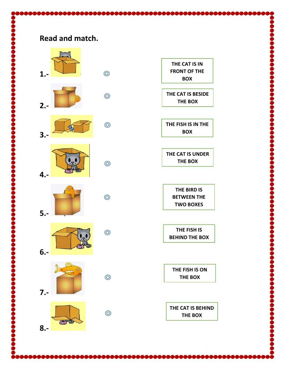 3rd Grade Preposition Worksheets Prepositions Of Place Interactive and Able Worksheet