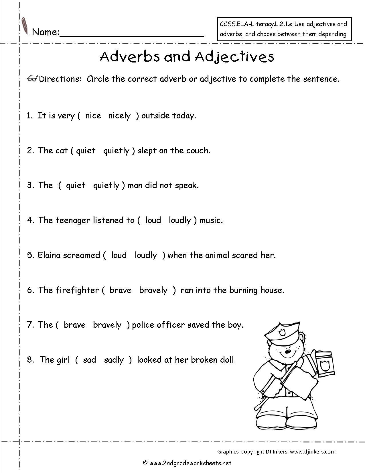 4th Grade Adverb Worksheets Math topics by Grade Birthday themed Coloring Pages