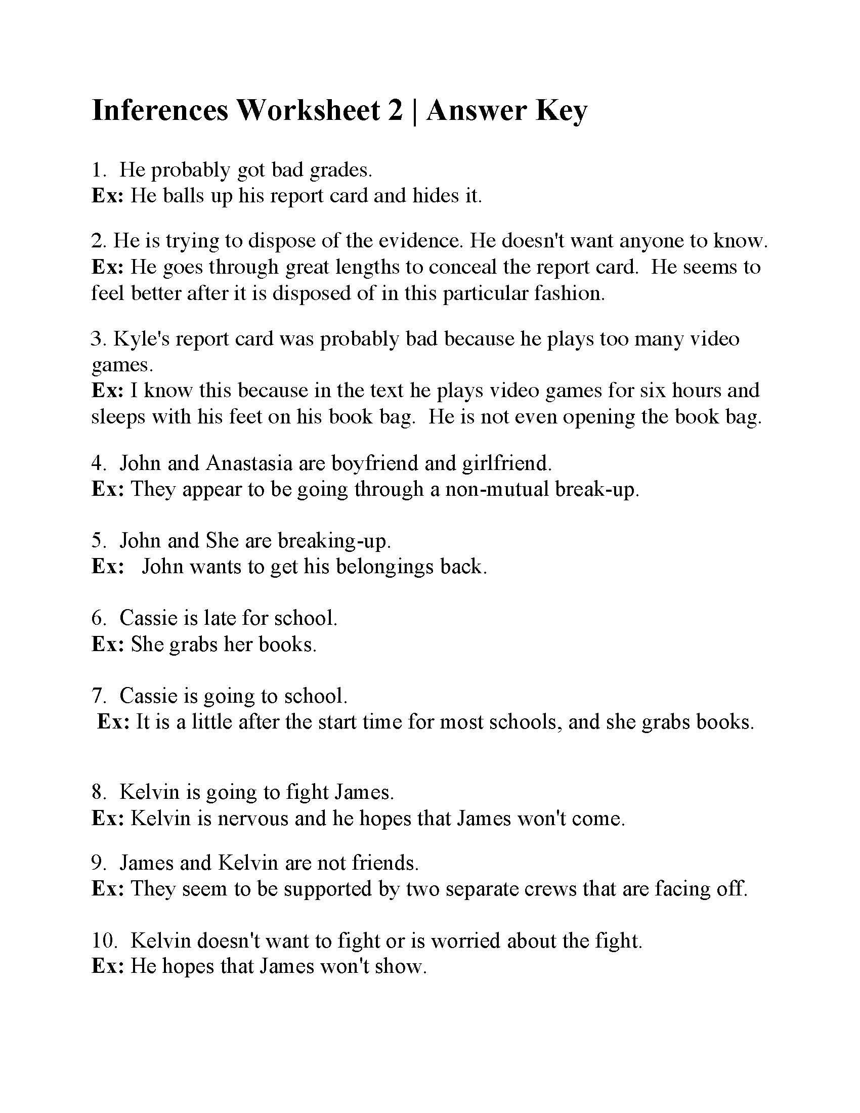 4th Grade Inferencing Worksheets Pin On Worksheet Fun