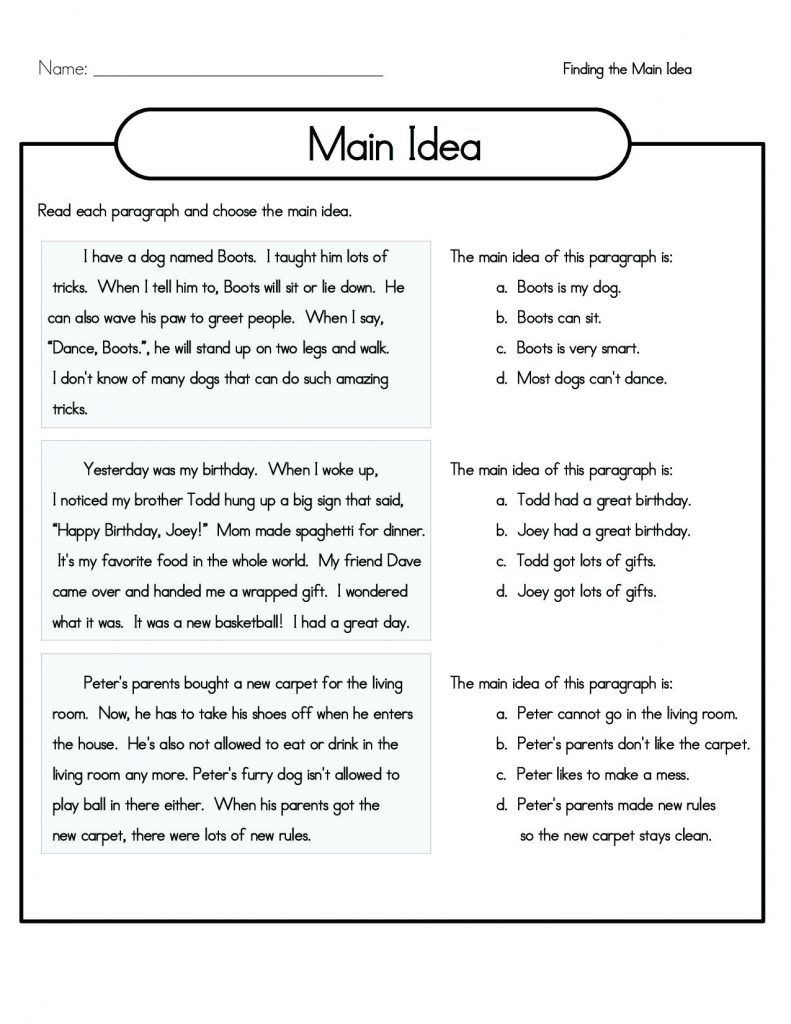 4th Grade Writing Worksheets Pdf 4th Grade Reading Prehension Worksheets Best Coloring