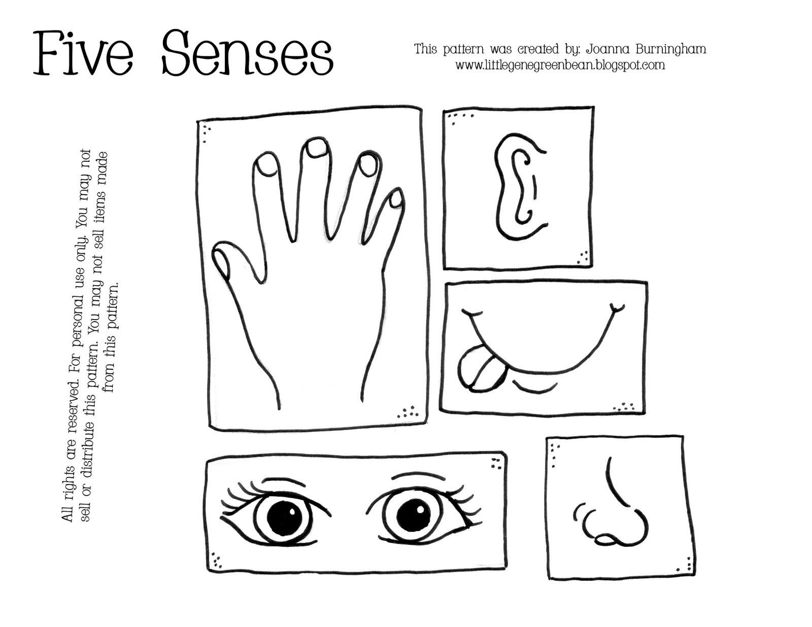5 Senses Printable Worksheets Five Sense Coloring Pages for Kids Coloring Home