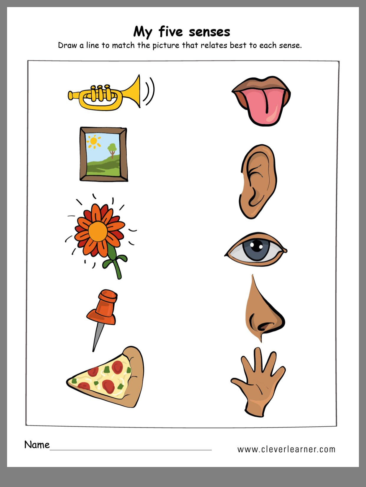 5 Senses Printable Worksheets Pin by Wenshan Liang On All About Me