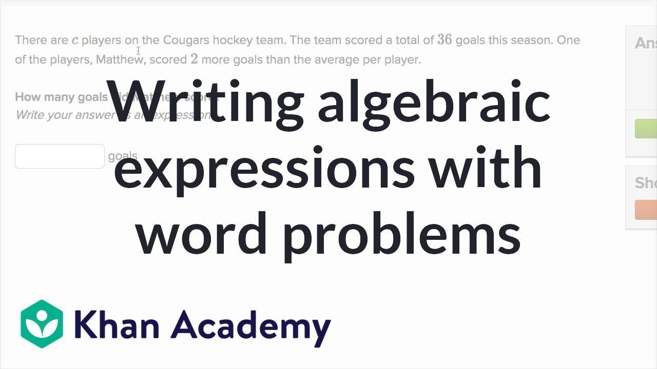 5th Grade Algebraic Expressions Worksheets How to Write Algebraic Expressions From Word Problems 6th Grade
