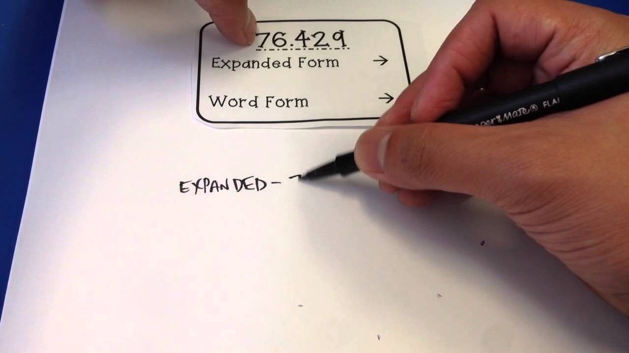 5th Grade Expanded form Worksheets Fifth Grade Decimal Expanded form and Word form