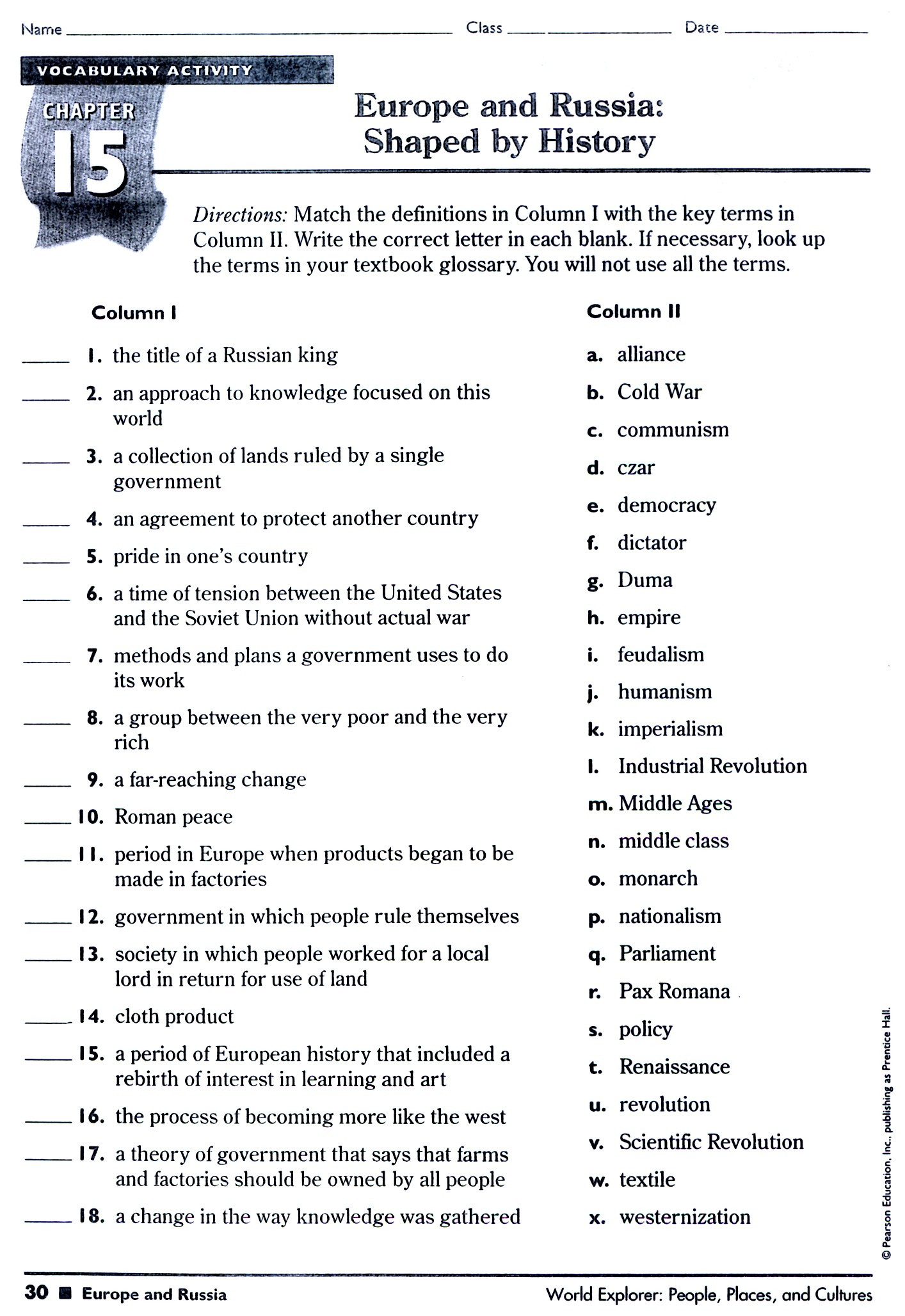 5th Grade History Worksheets 5th Grade U S History Worksheet