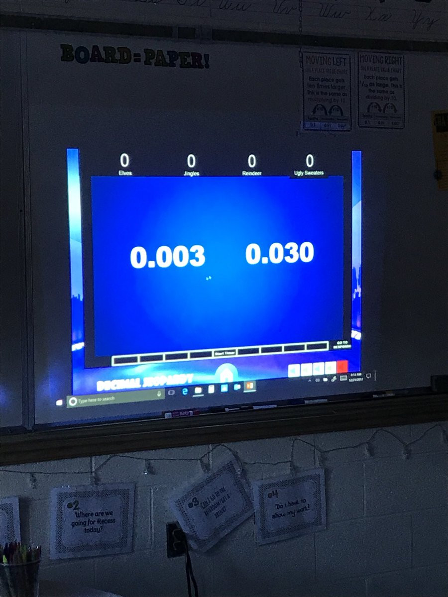 "5th Grade Jeopardy Math East Haven Academy On Twitter ""a Huge Thank You to Mr"