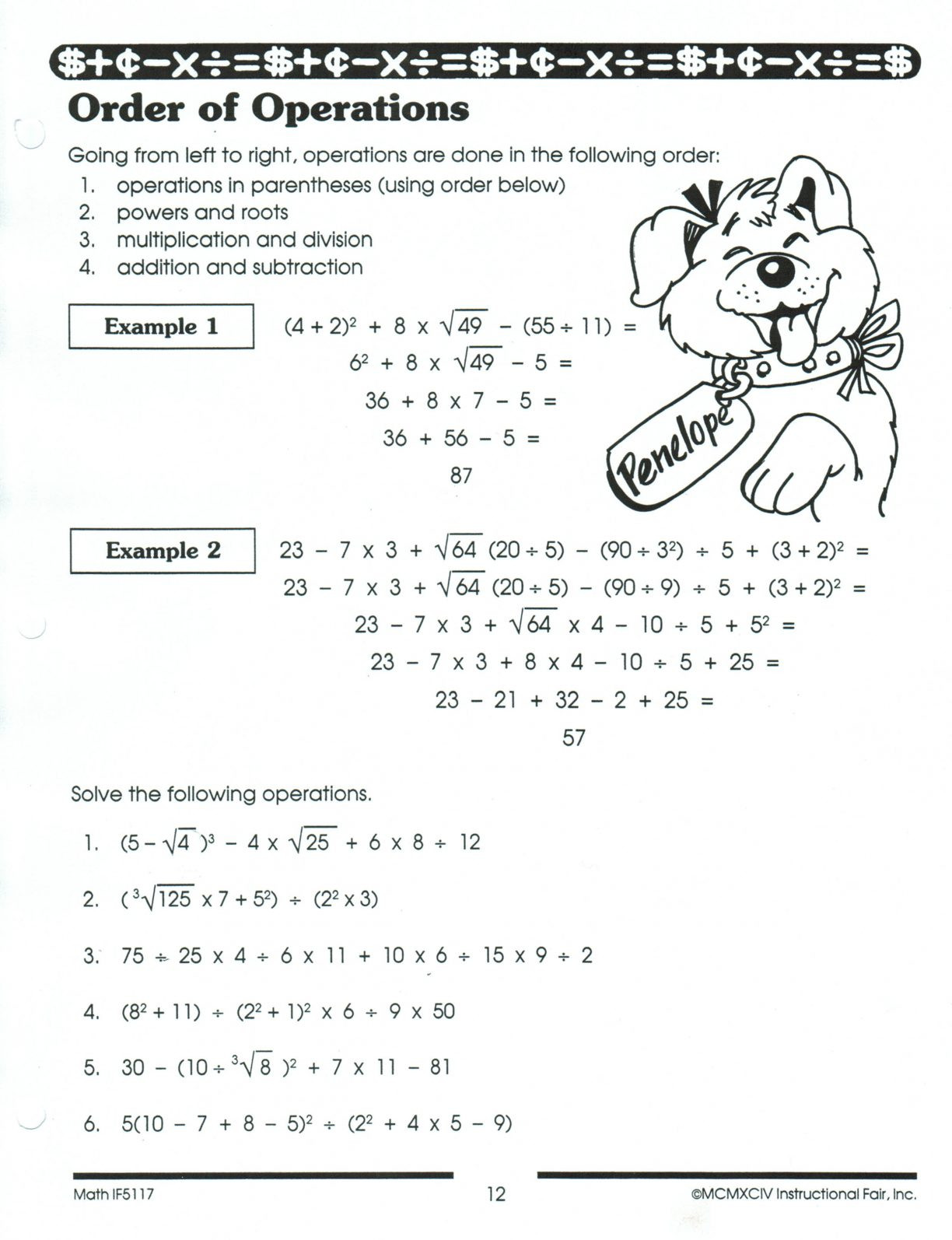 5th Grade Pemdas Worksheets Pemdas Worksheets