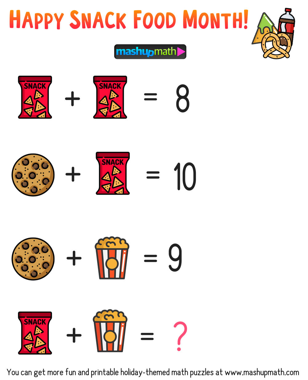 6th Grade Math Puzzles Printable Free Math Brain Teaser Puzzles for Kids In Grades 1 6 to