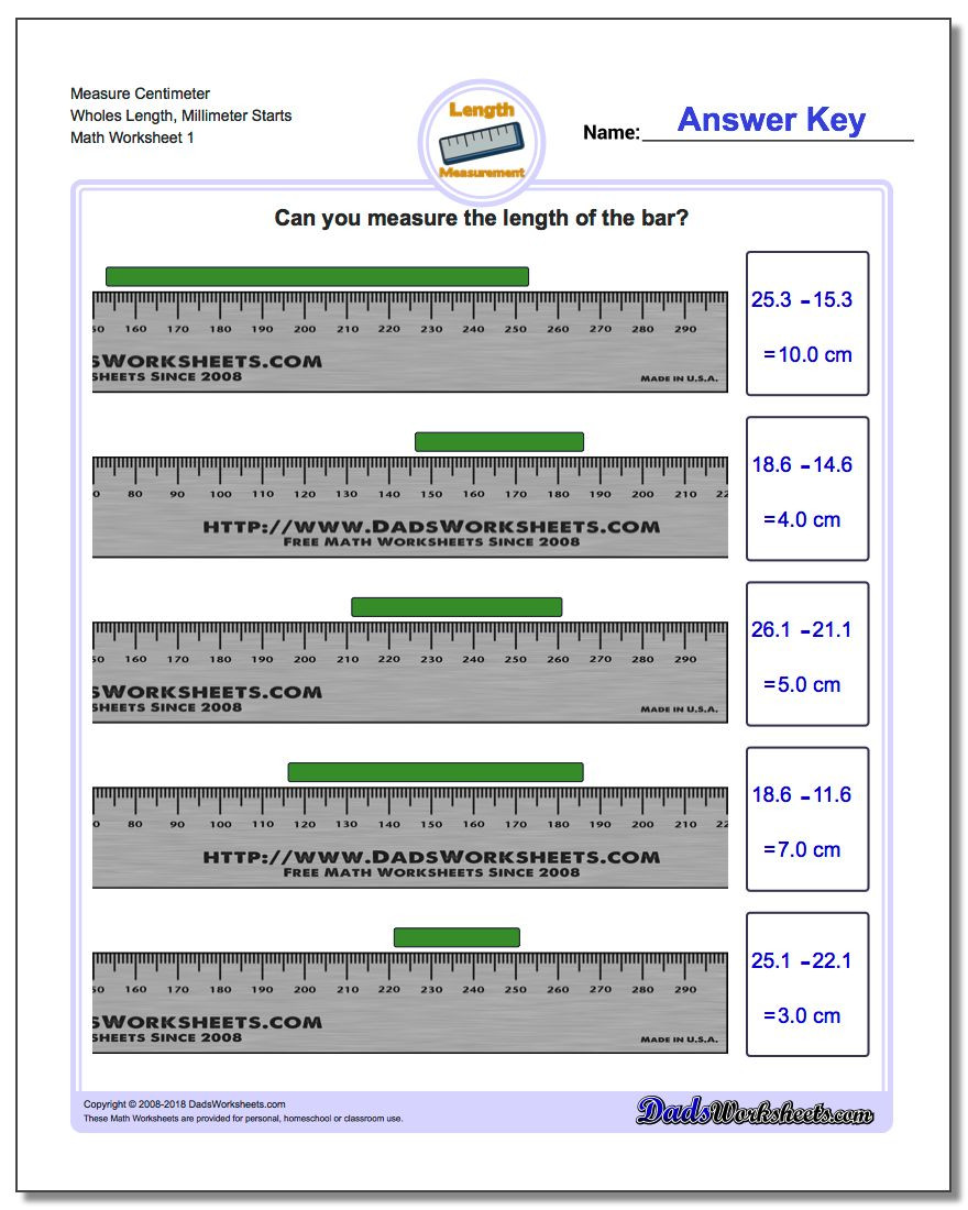 6th Grade Measurement Worksheets Metric Measurement
