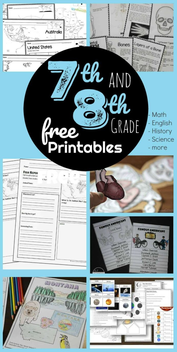 7th Grade Science Worksheets Free 7th 8th Grade Worksheets Science Division Problems