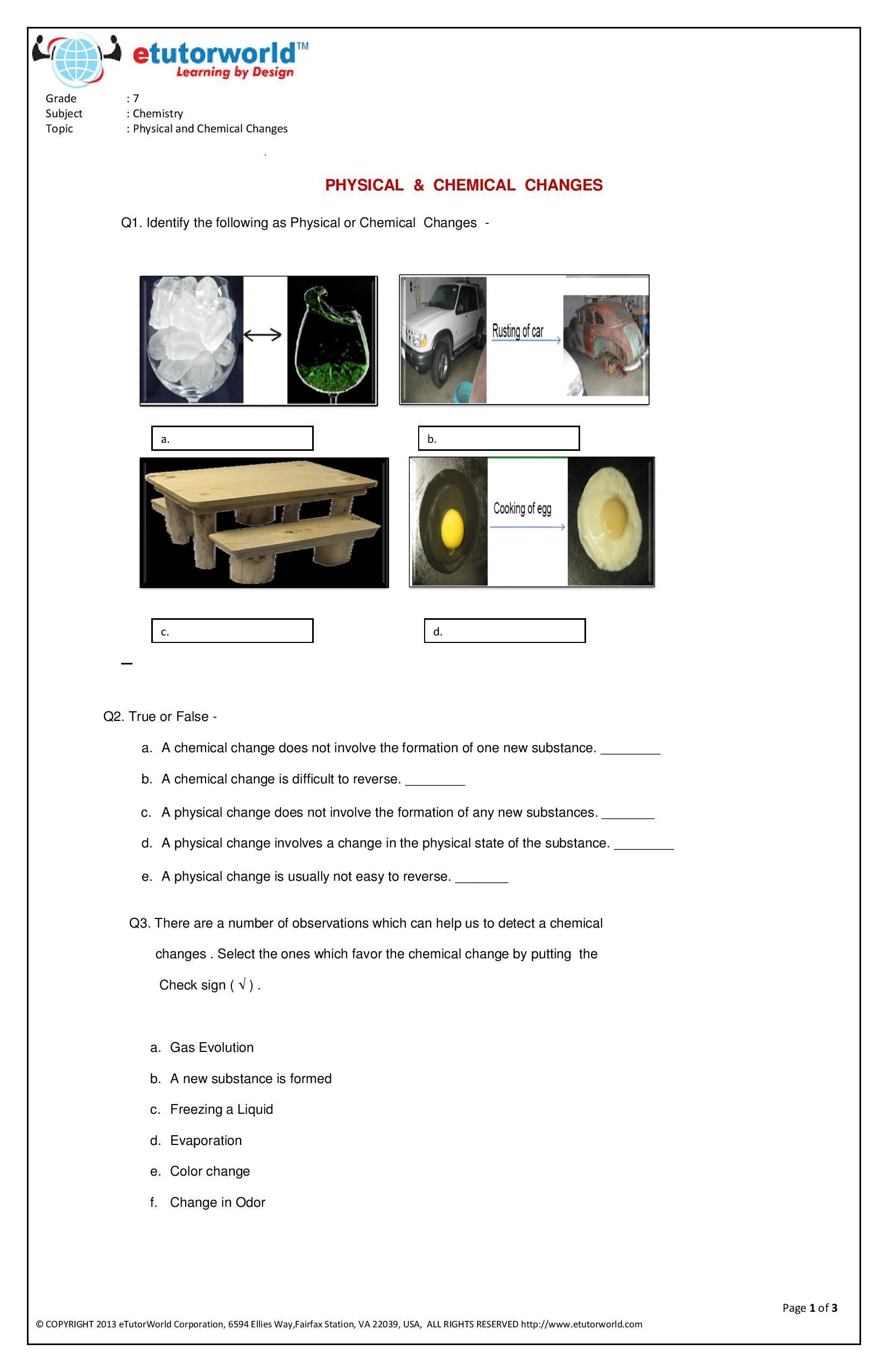 7th Grade Science Worksheets Printable Science Worksheets for Grade 7