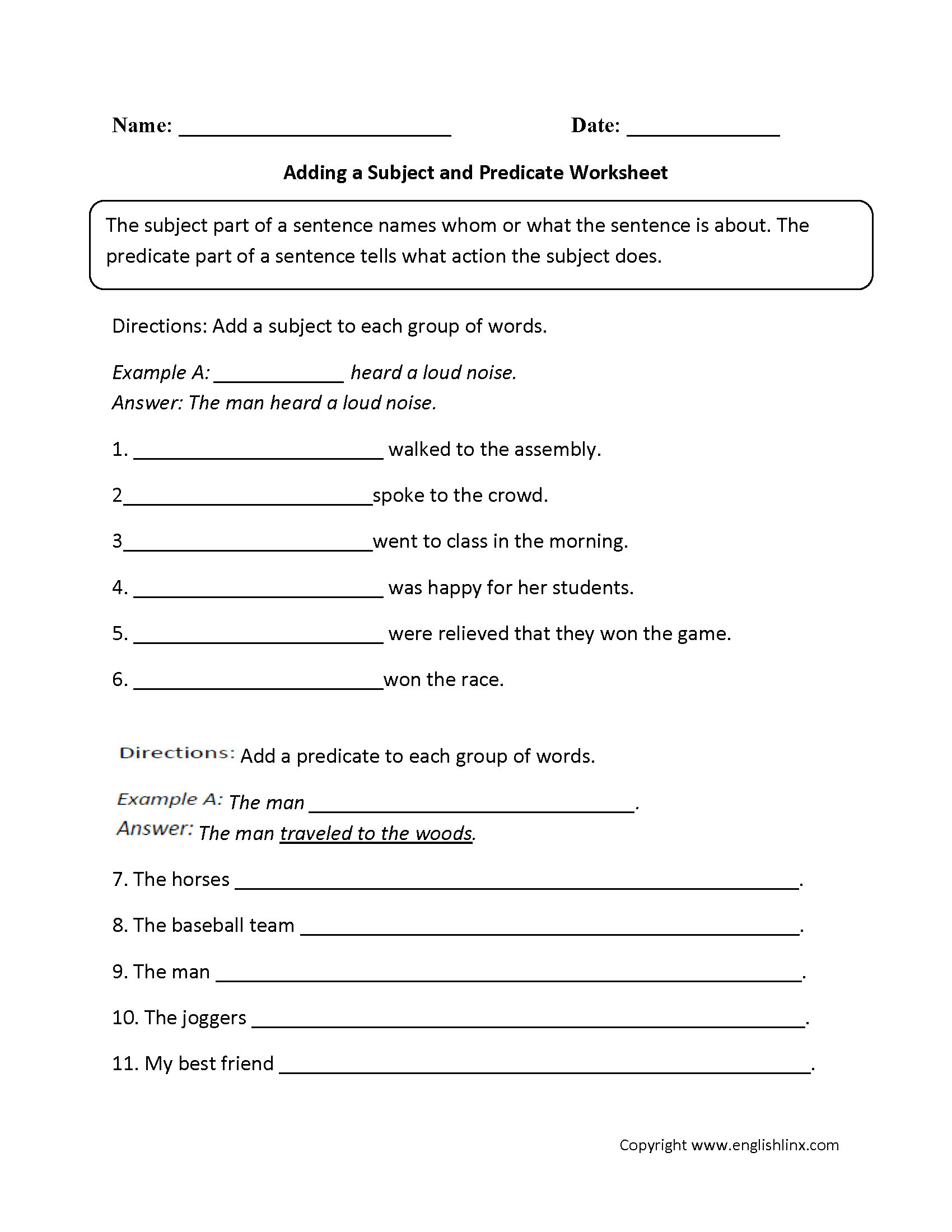 9th Grade Printable Worksheets 4 English Grammar Worksheets Printables Sentences
