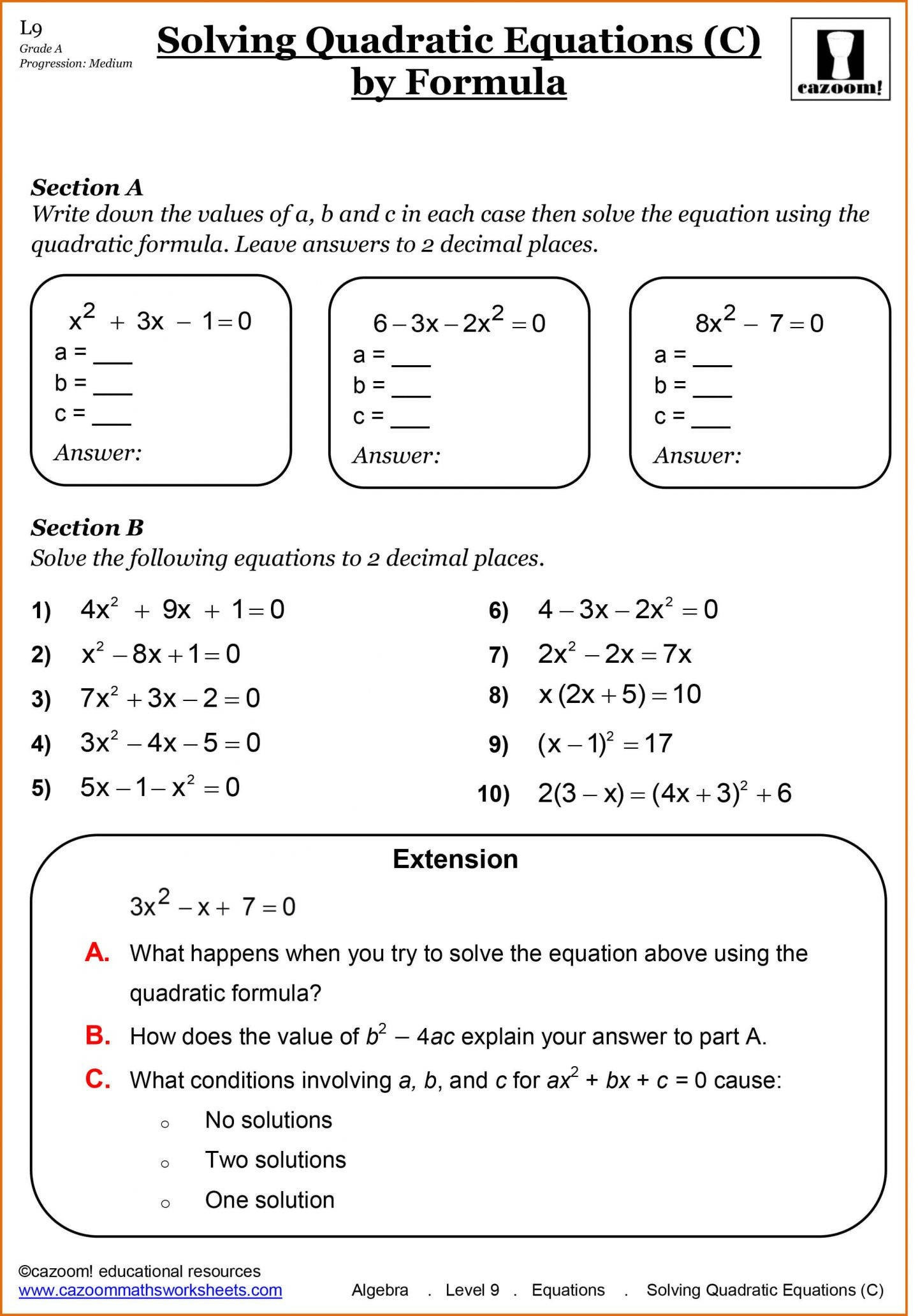 9th Grade Printable Worksheets 9th Grade Algebra Equations Worksheets Tessshebaylo