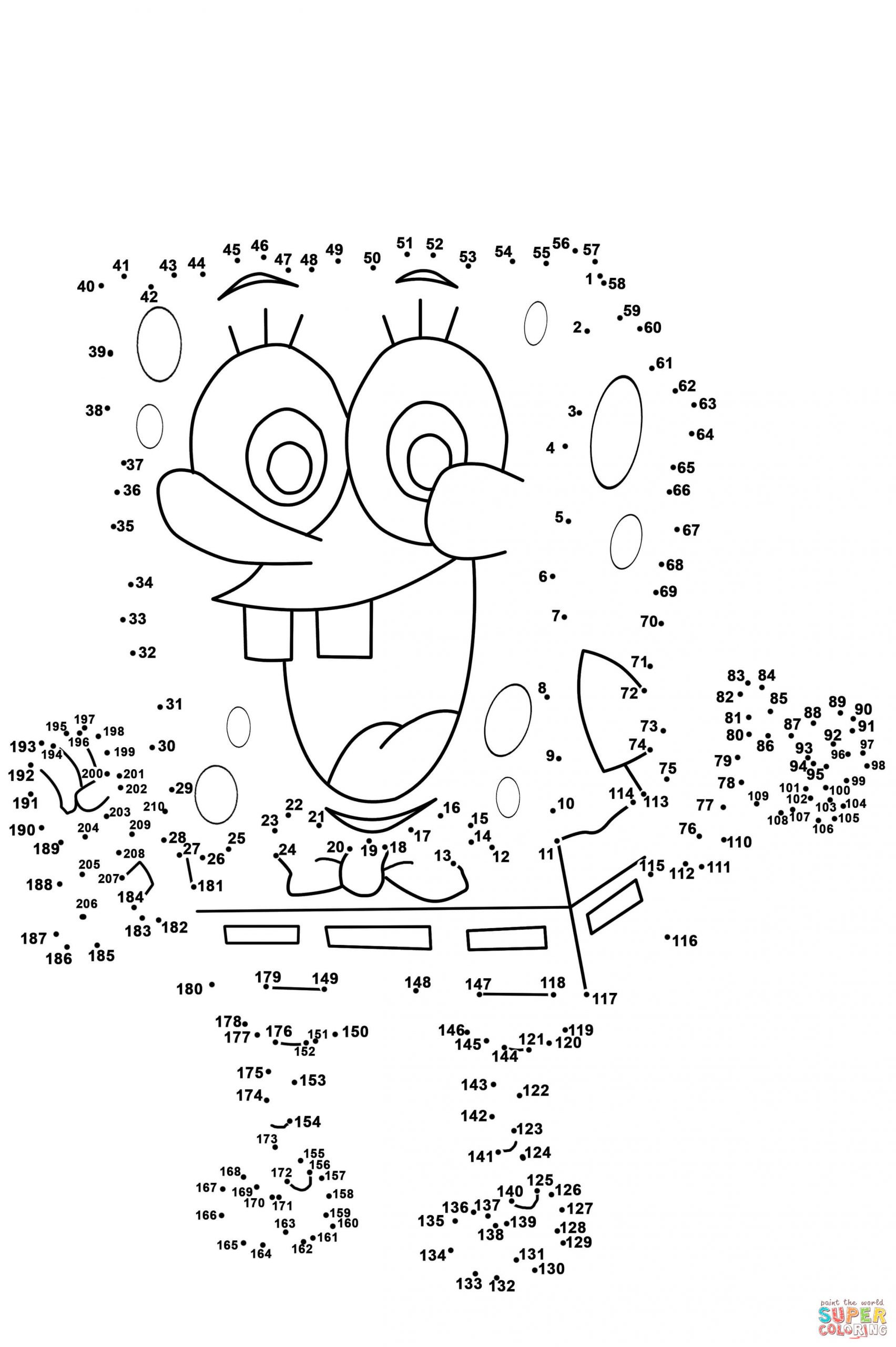 Abc Connect the Dots Printable Spongebob Dot to Printable Hardsheets and Coloring Pages