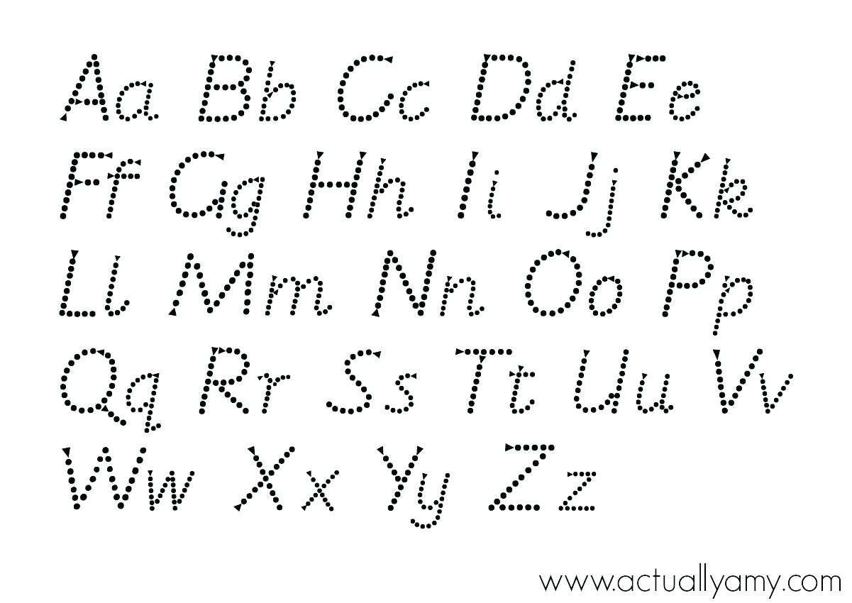 Abc Dot to Dot Printable Abc Connect the Dots Abc Alphabet Connect the Dots