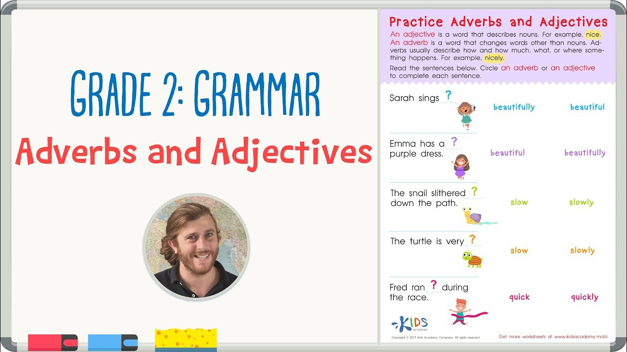 Adjectives Worksheets for Grade 2 Grade 2 Grammar Practice Adjectives and Adverbs Worksheet