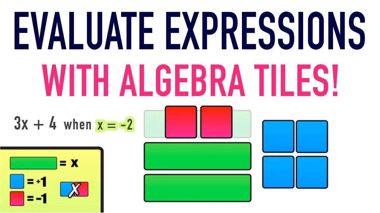 Algebra Tiles Worksheets 6th Grade Evaluating Expressions Using Algebra Tiles