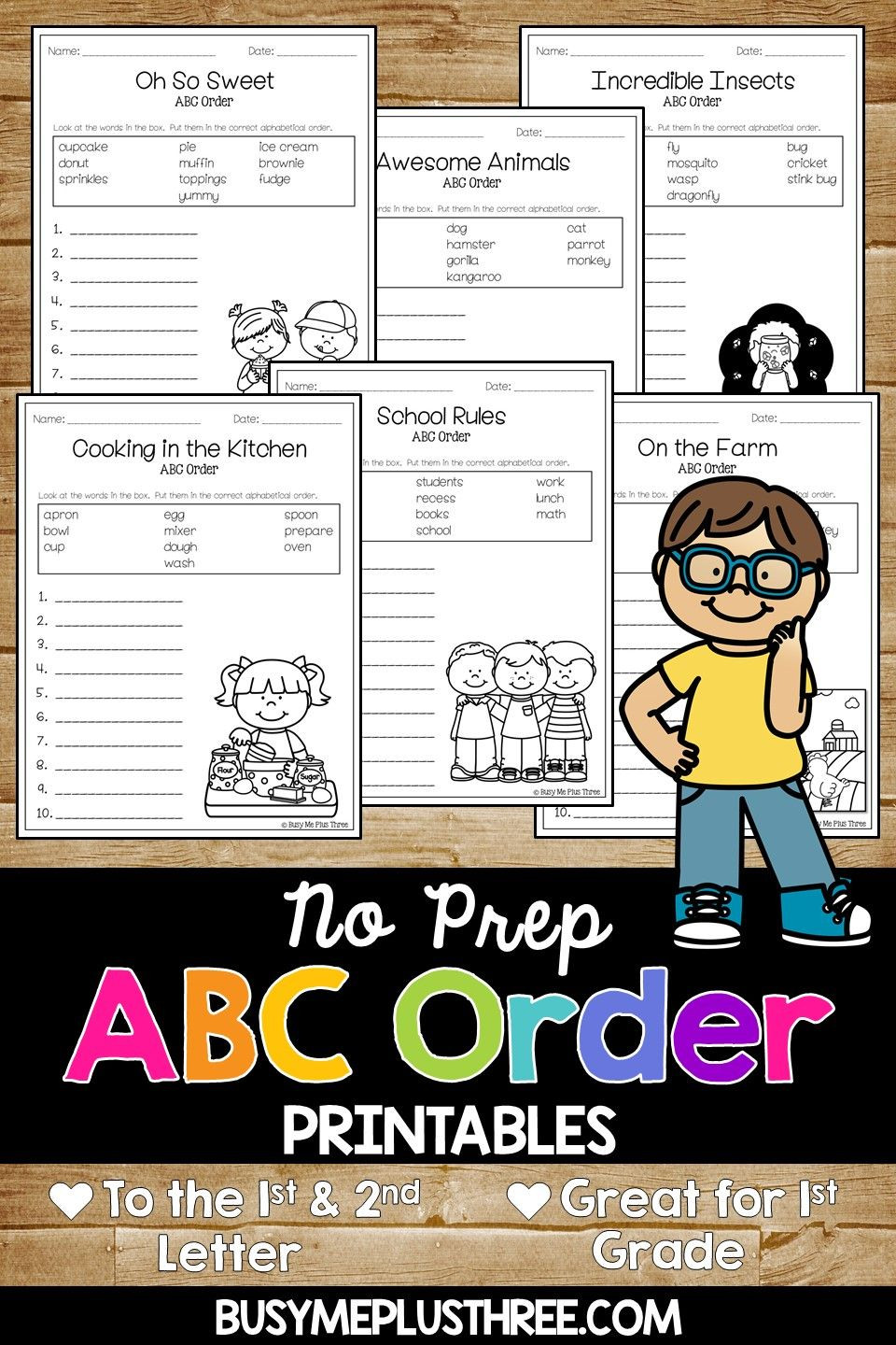 Alphabetical order Worksheets 2nd Grade Abc order Worksheets Alphabetical order Pages for 1st 2nd