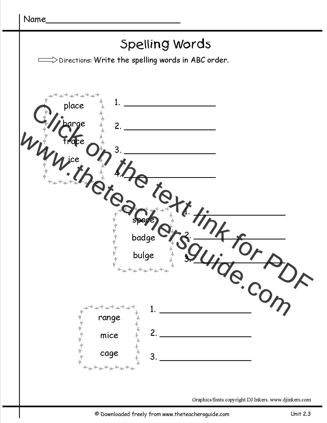 Alphabetical order Worksheets 2nd Grade Second Letter Abc order Worksheets