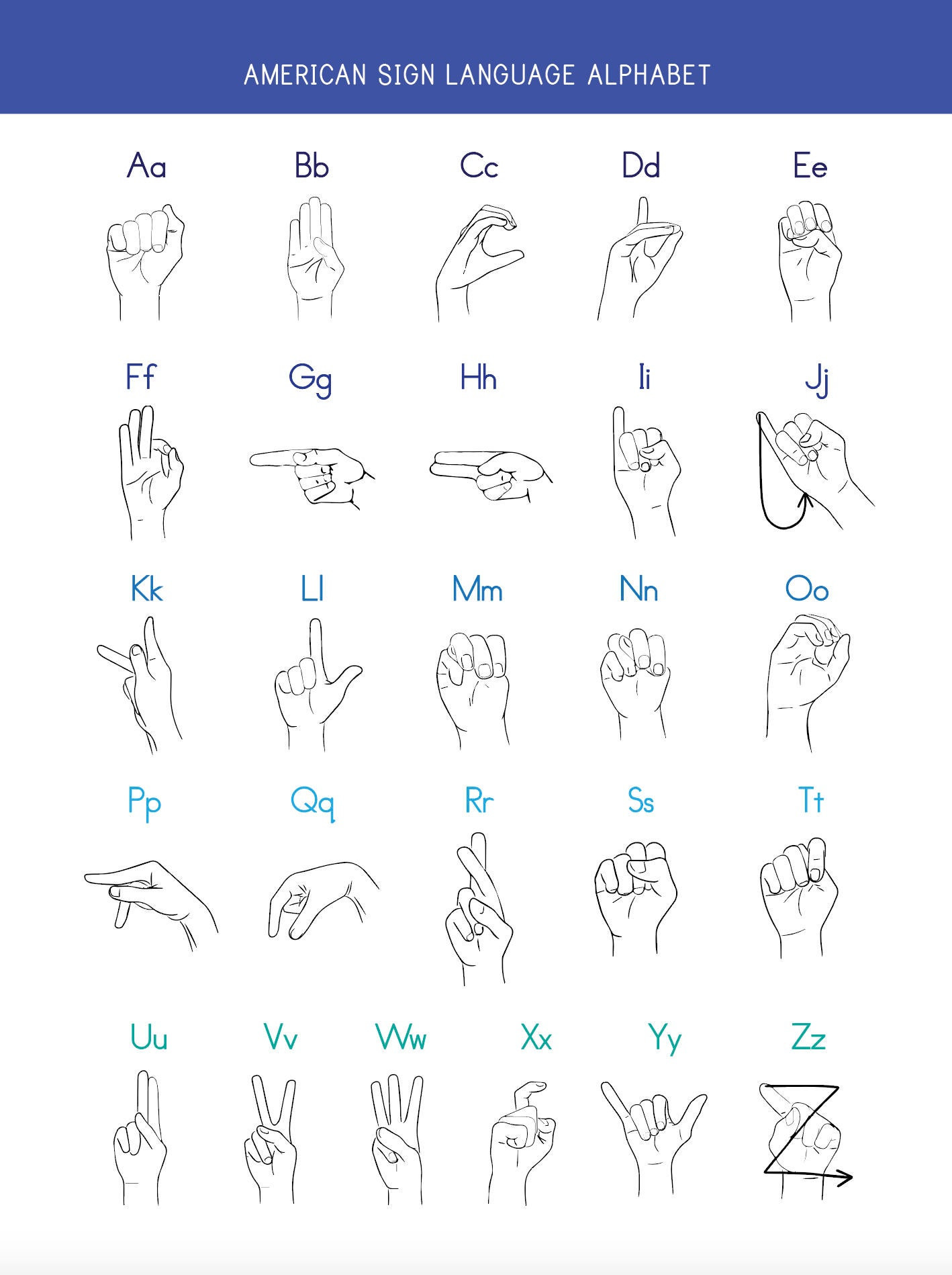 American Sign Language Worksheets Printable Printable American Sign Language Worksheet