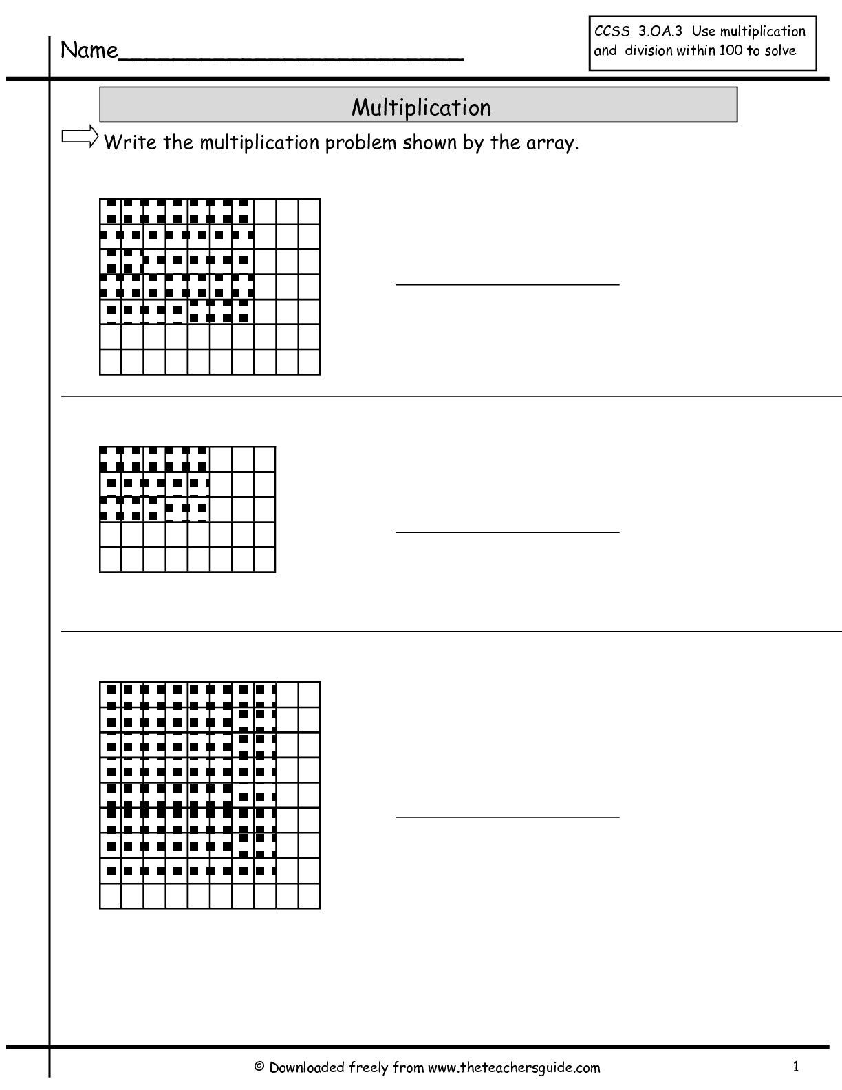 Array Math Worksheets Array Worksheets to Printable Array Worksheets 2nd Grade