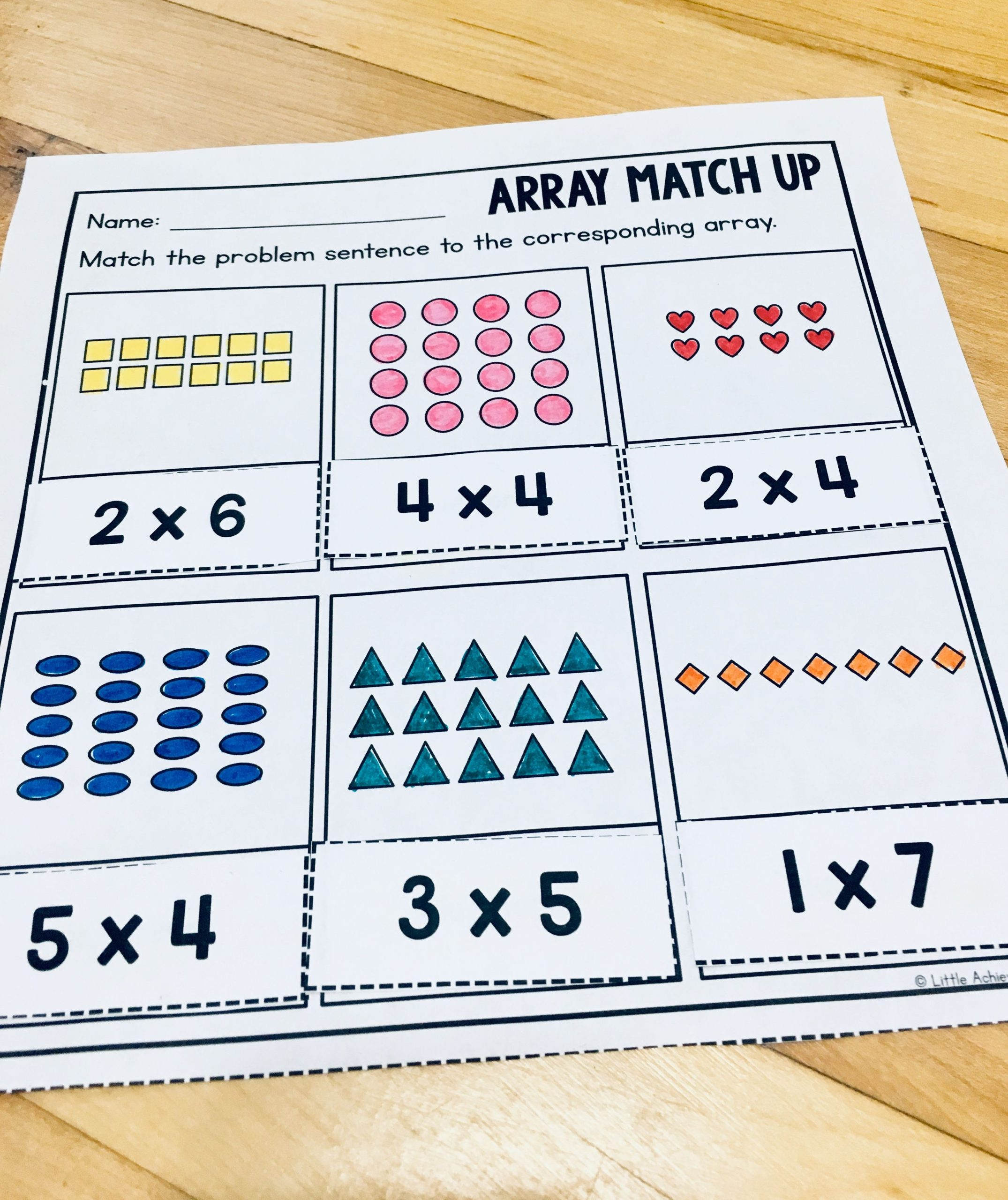 Array Math Worksheets Arrays Worksheets 2nd Grade